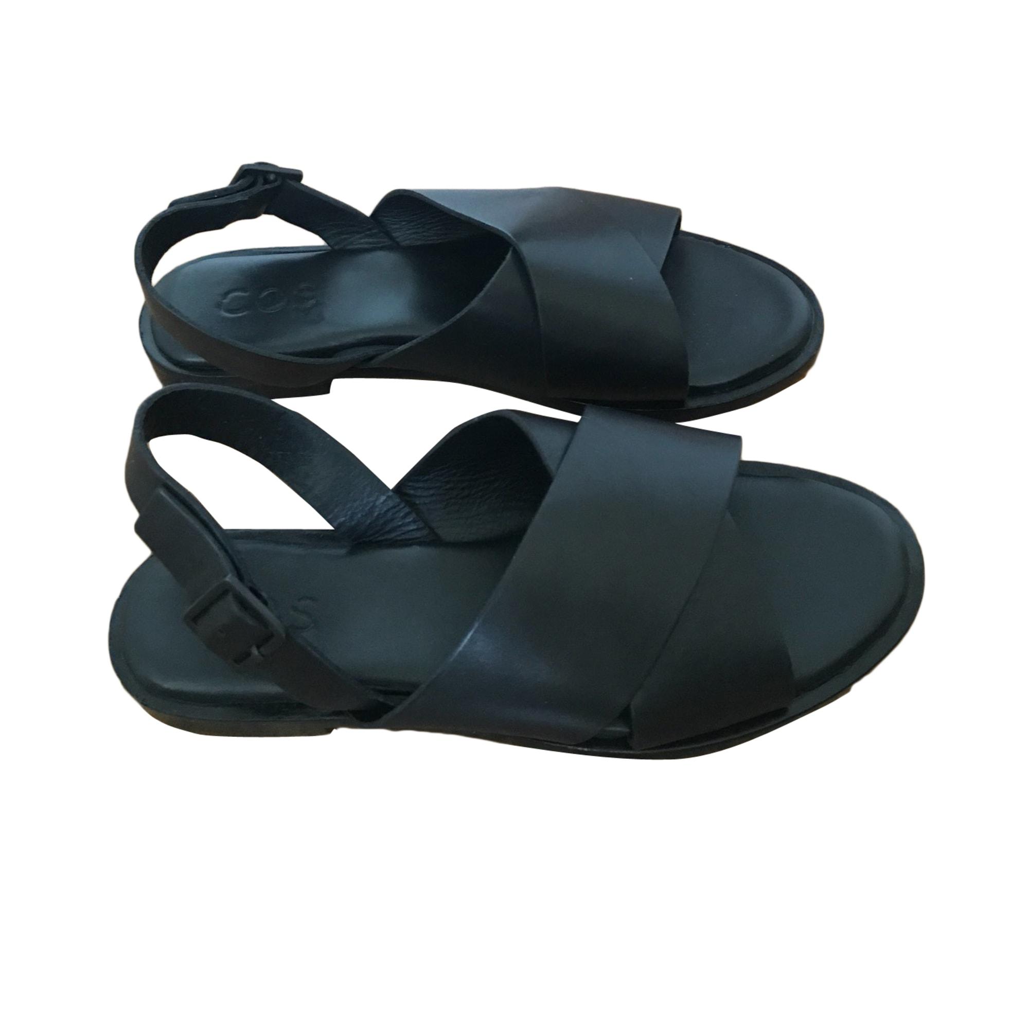 Sandales cuir noir COS