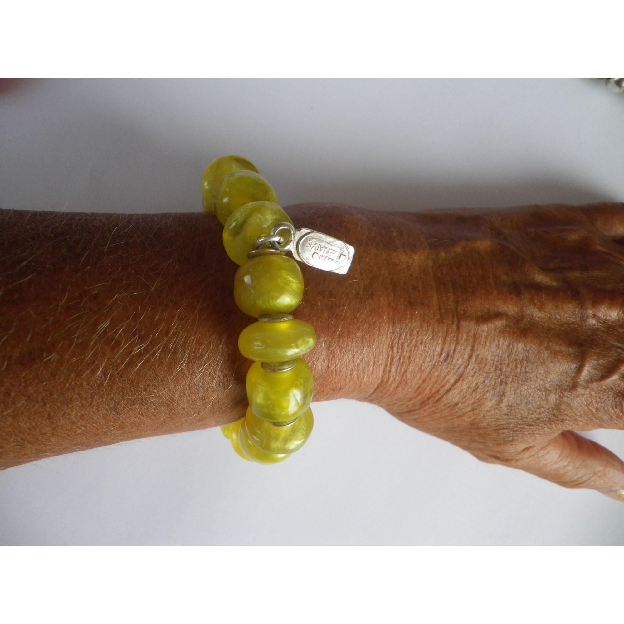 Bracelet DOMINIQUE DENAIVE résine jaune