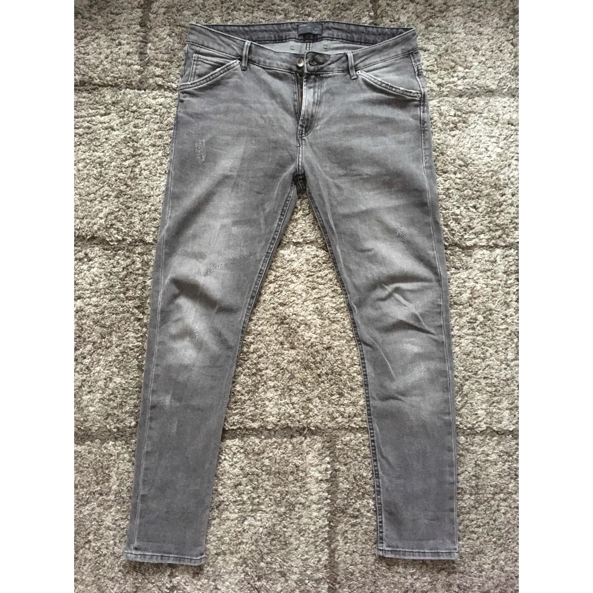pantalon gris clair zara homme