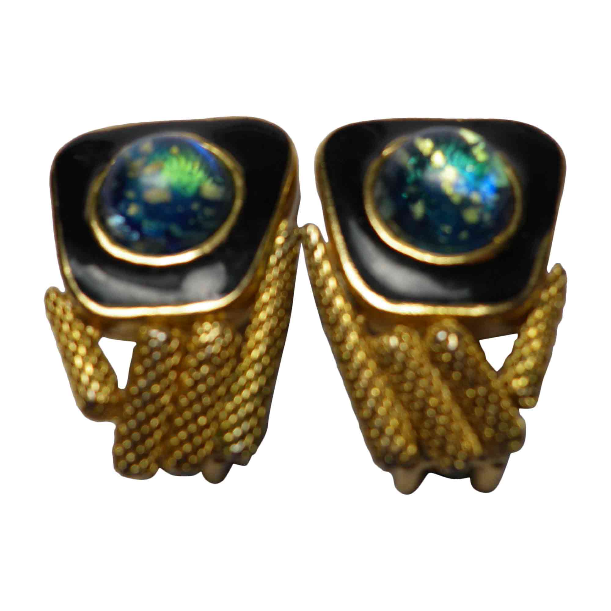 Boucles d'oreille BALENCIAGA métal multicolore