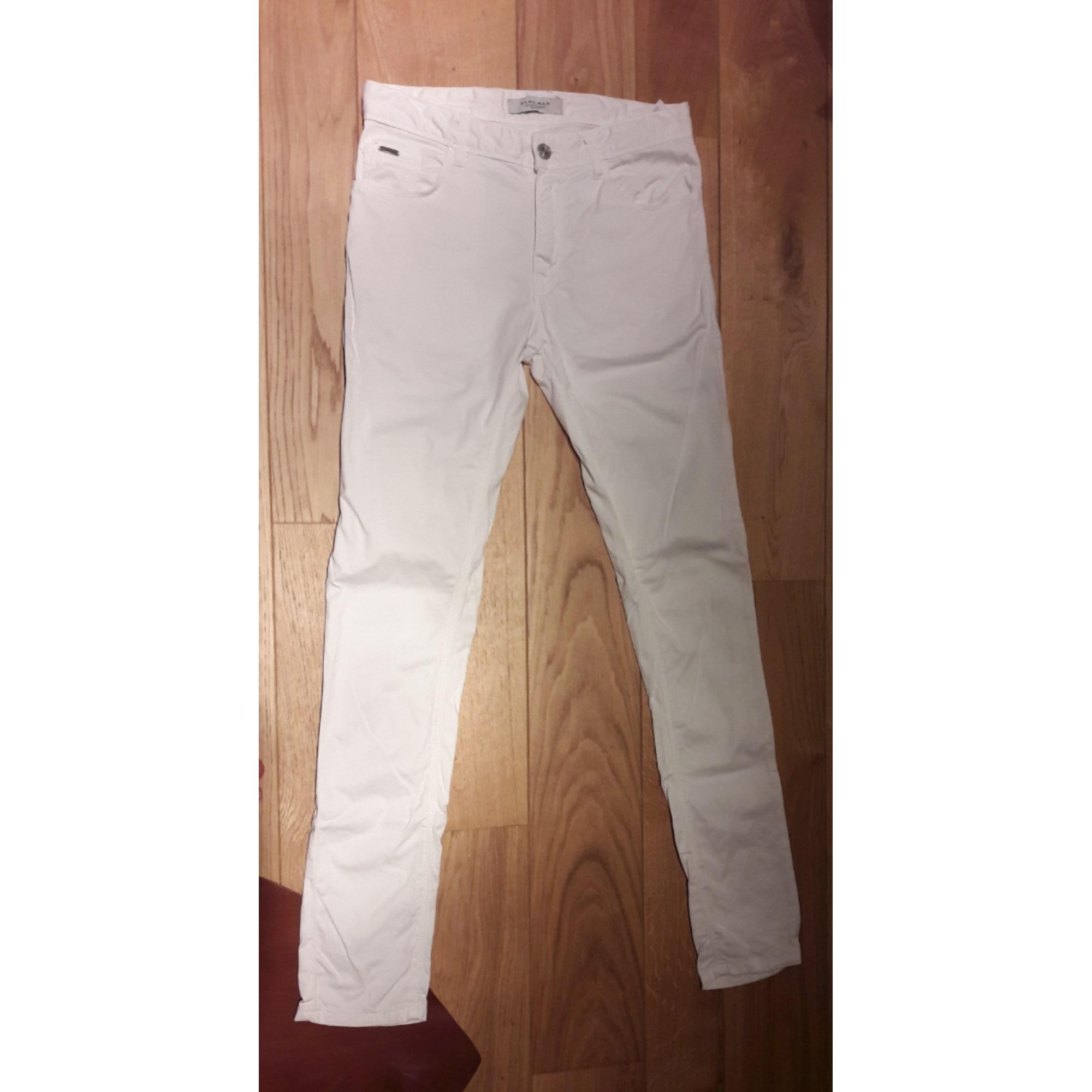 pantalon homme zara blanc