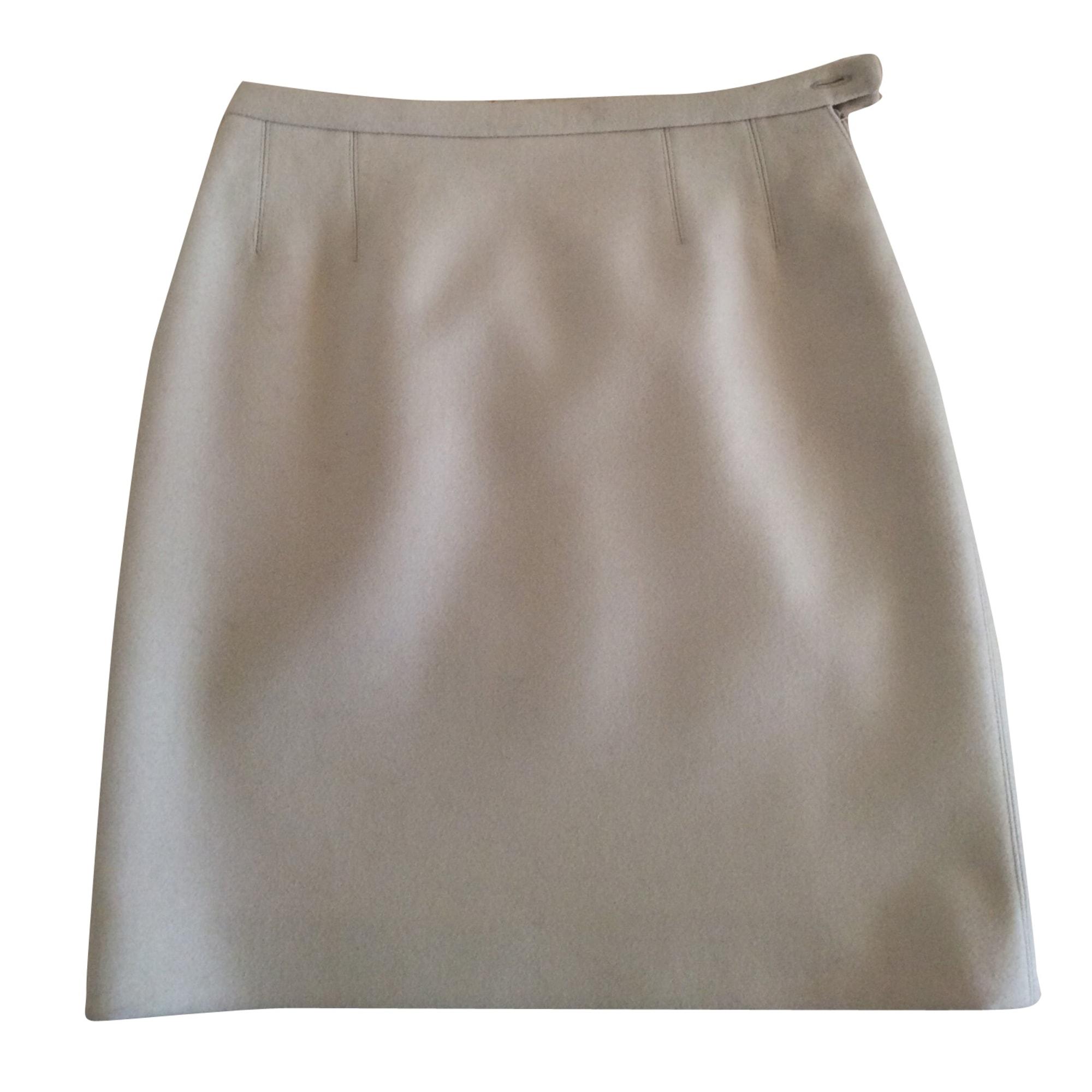 Jupe courte MAX MARA Blanc, blanc cassé, écru