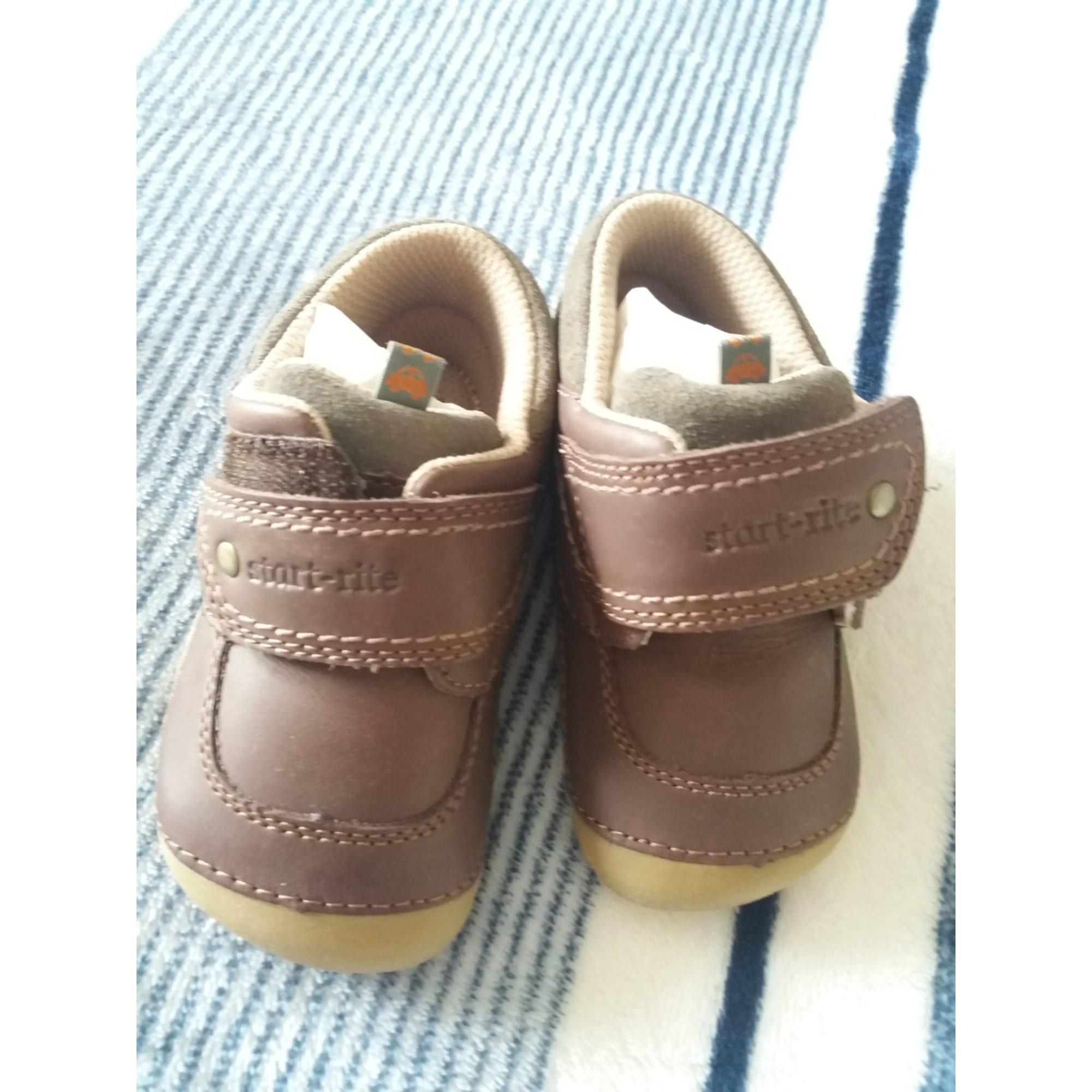Velcro Shoes START RITE Brown