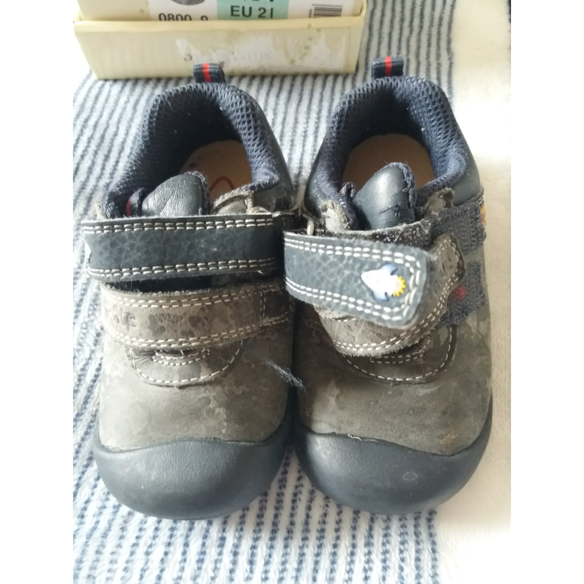 Velcro Shoes START RITE Gray, charcoal