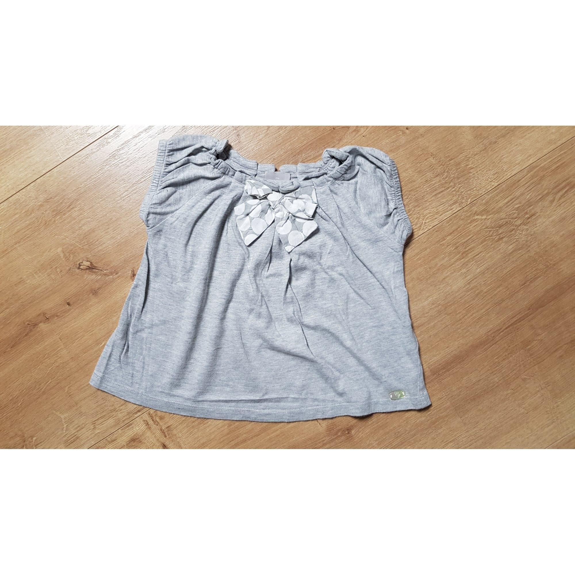 Top, Tee-shirt CYRILLUS Gris, anthracite
