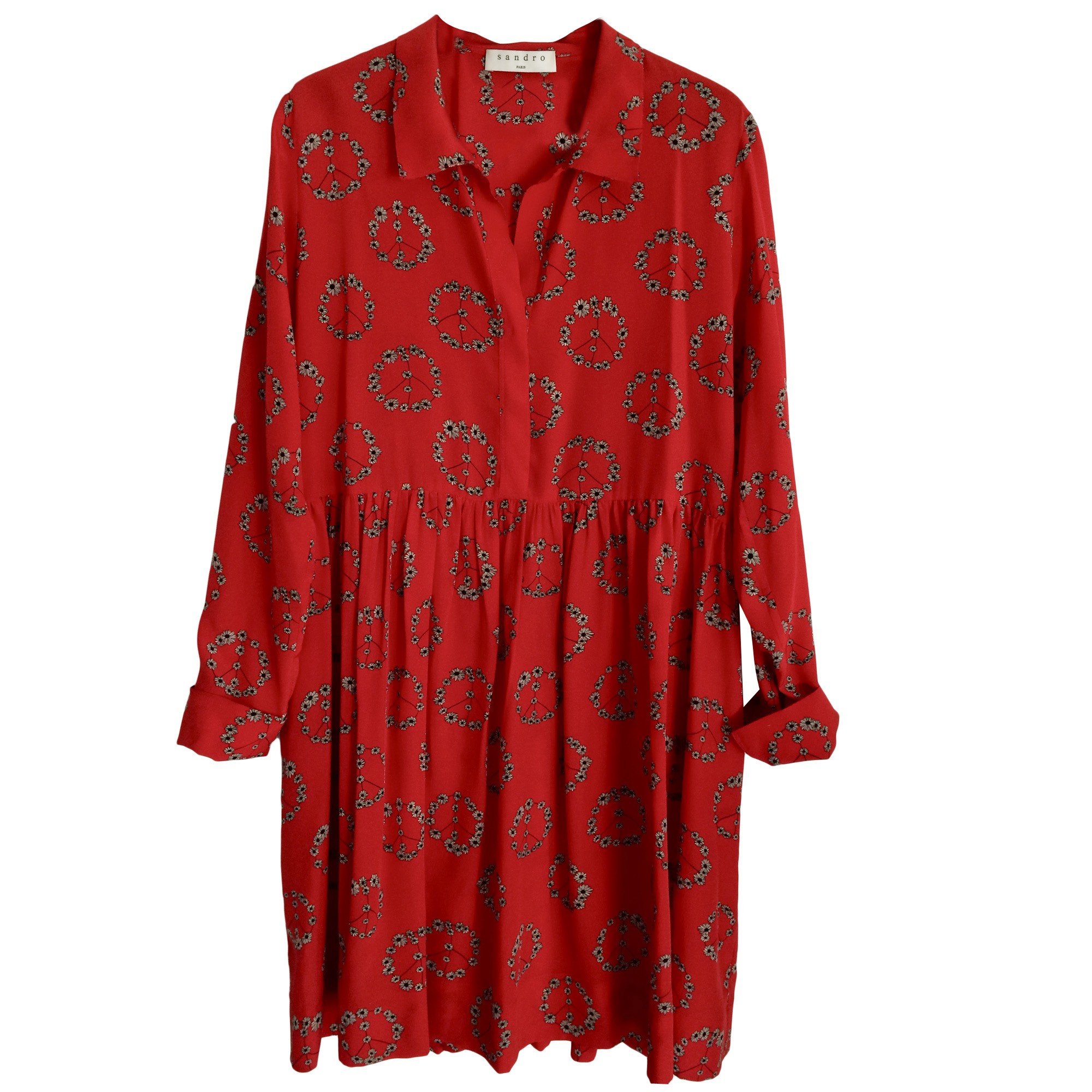 robe sandro rouge peace and love
