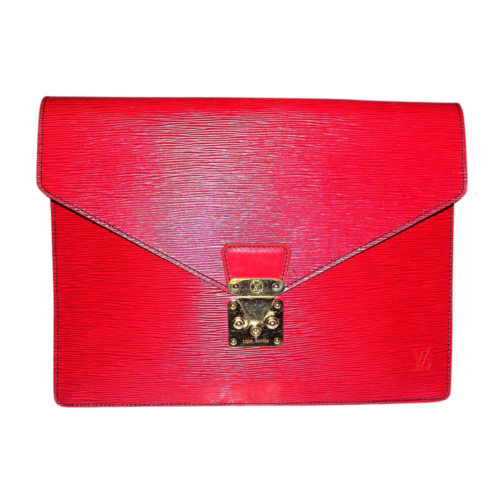 Porte documents, serviette LOUIS VUITTON Rouge, bordeaux