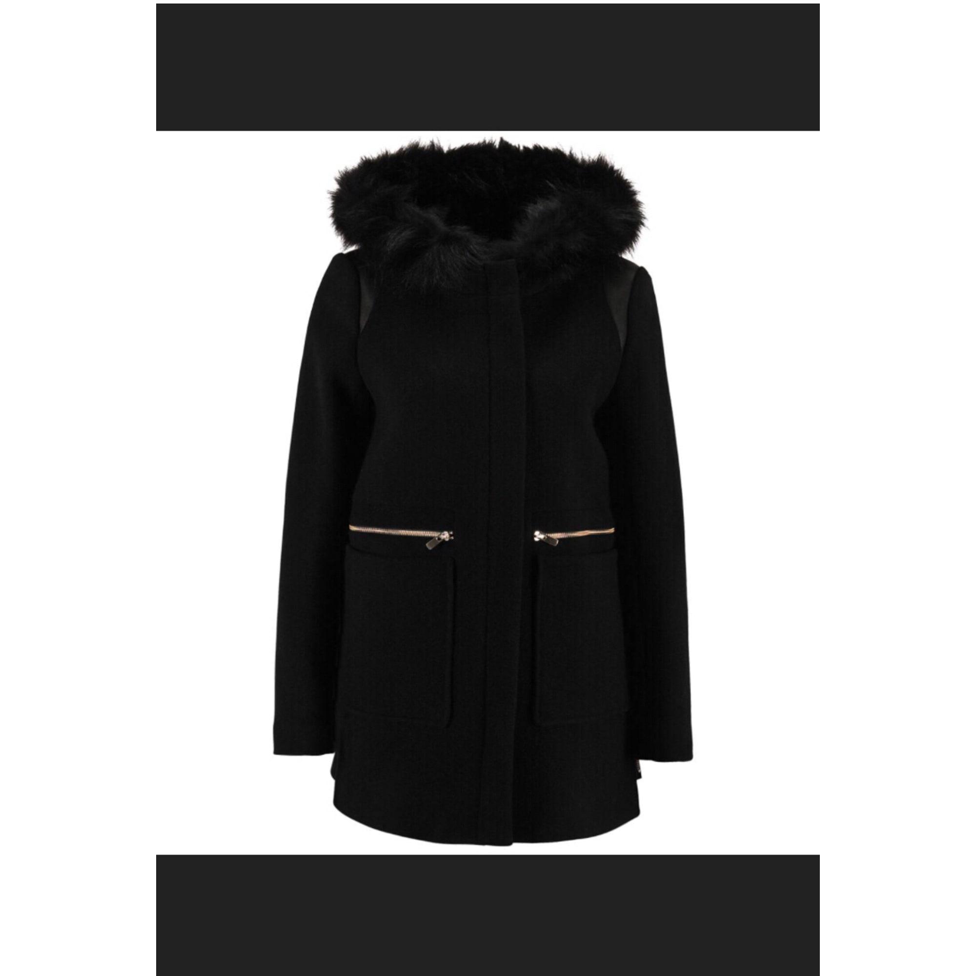 Maje Manteau pour femme en racoon