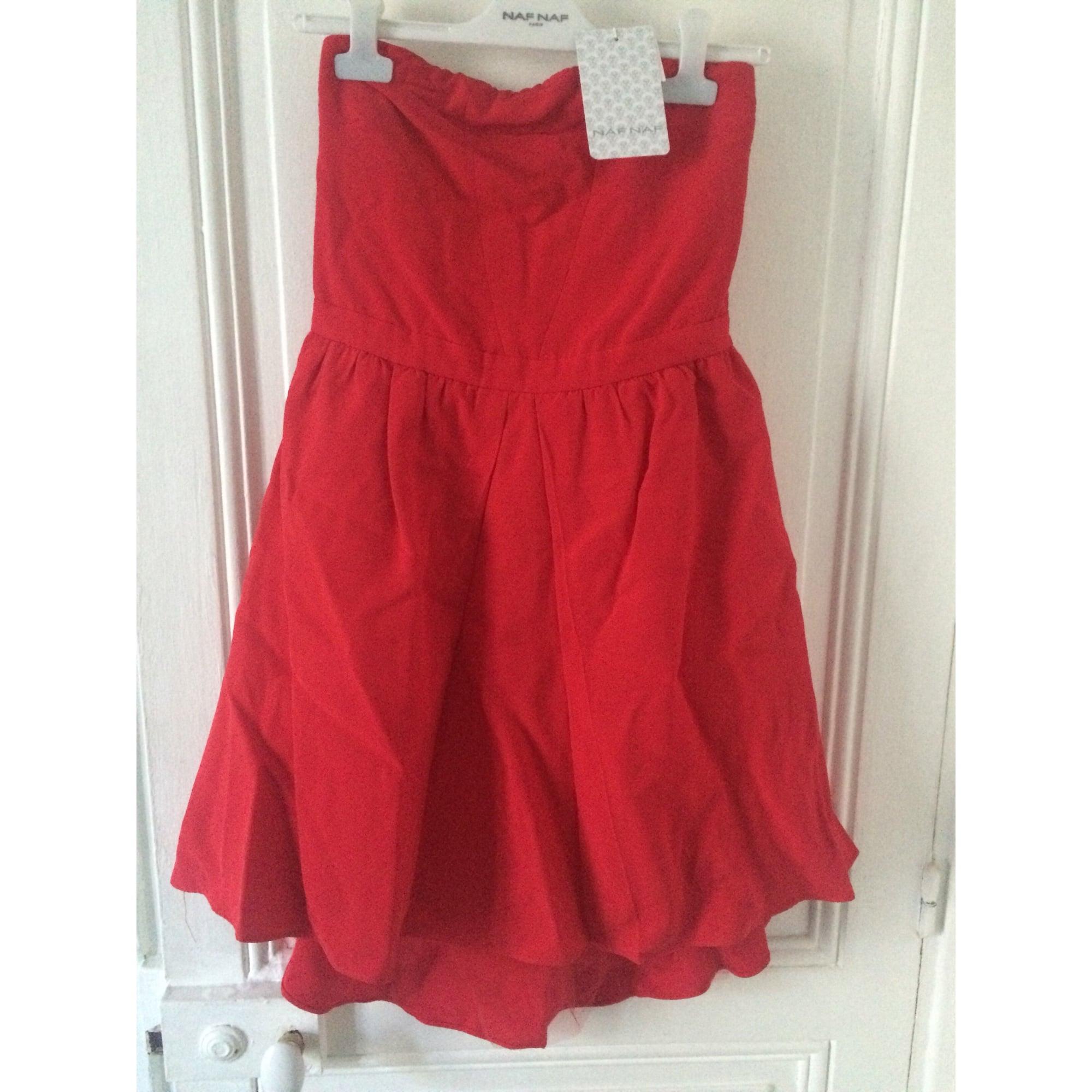 Naf Naf robe asymétrique Rouge 42: : Vêtements