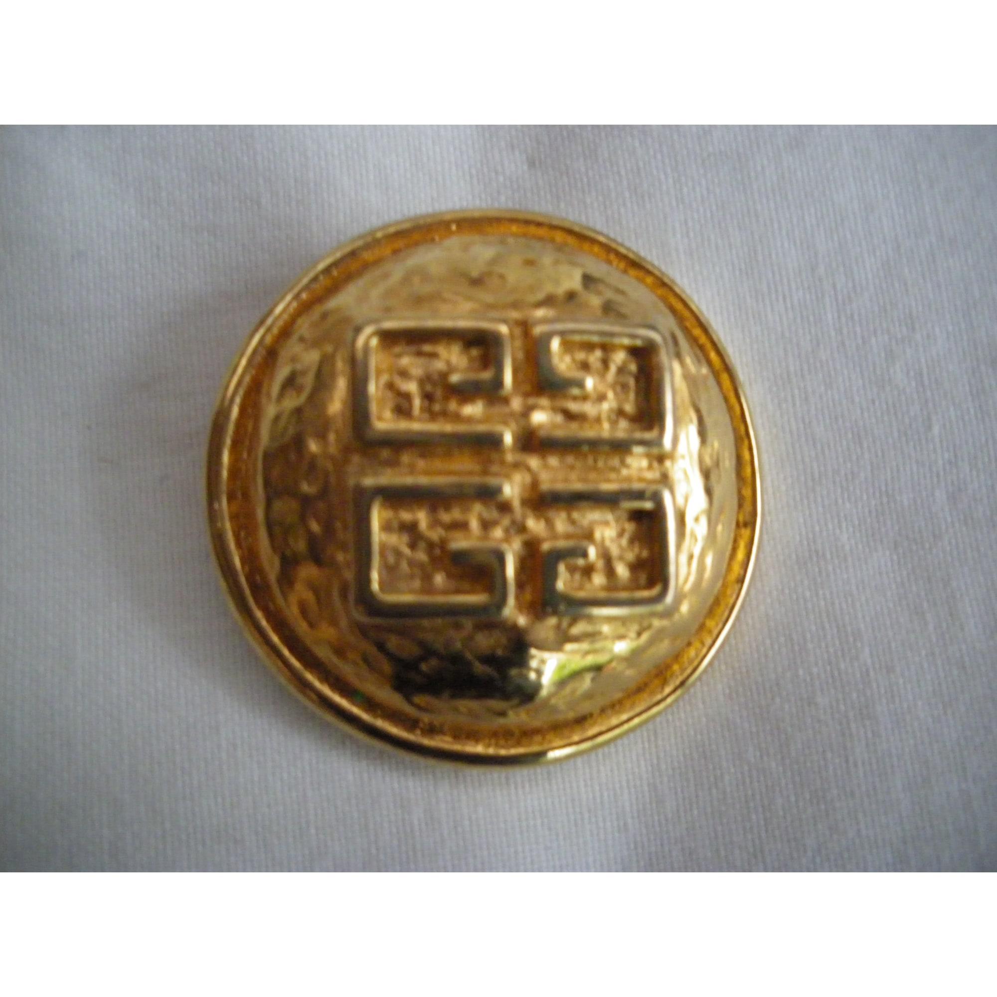 Broche GIVENCHY métal doré