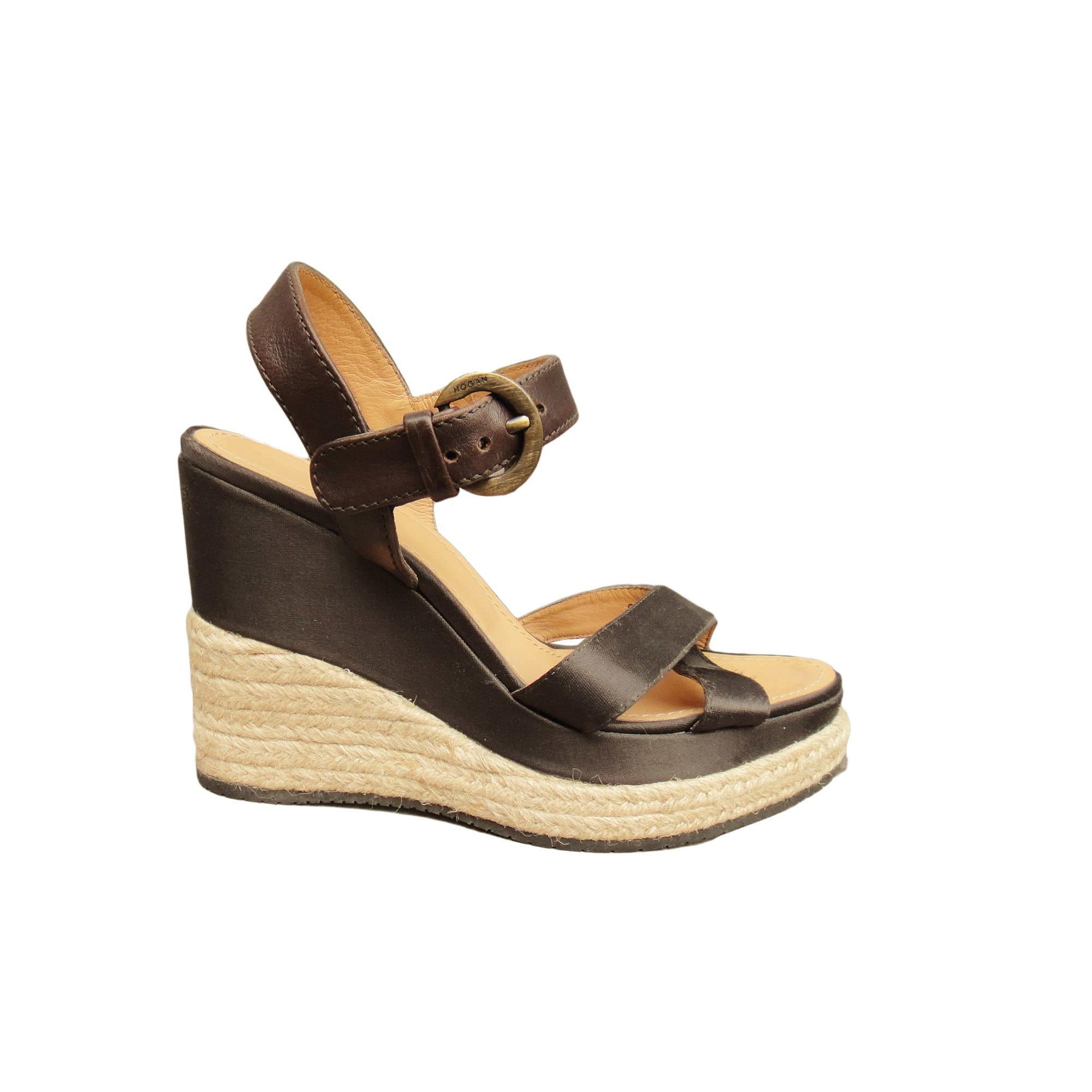 Sandales compensées HOGAN Marron