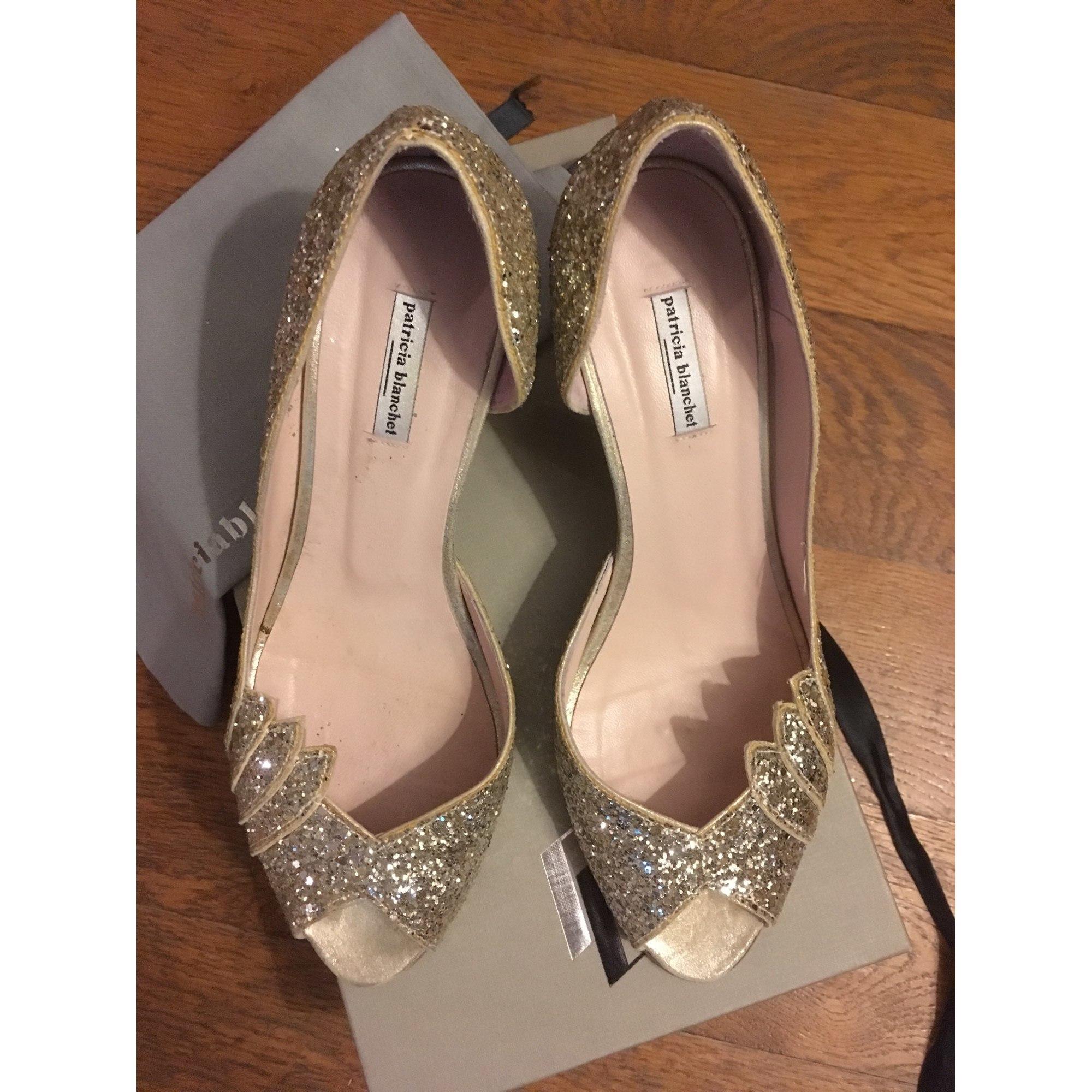 Escarpins dorés Patricia Blanchet | Chaussures argentées