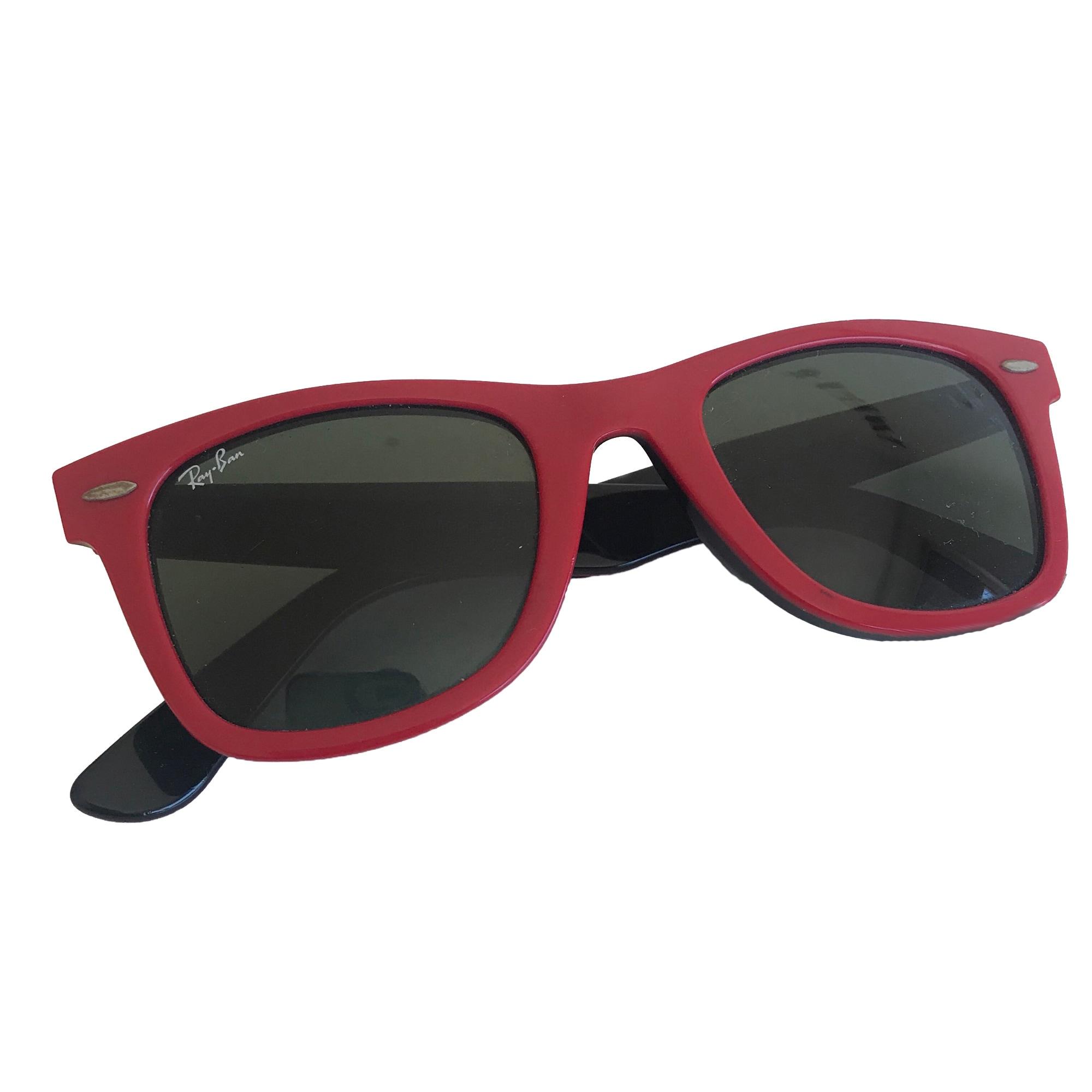 lunette de soleil ray ban rouge