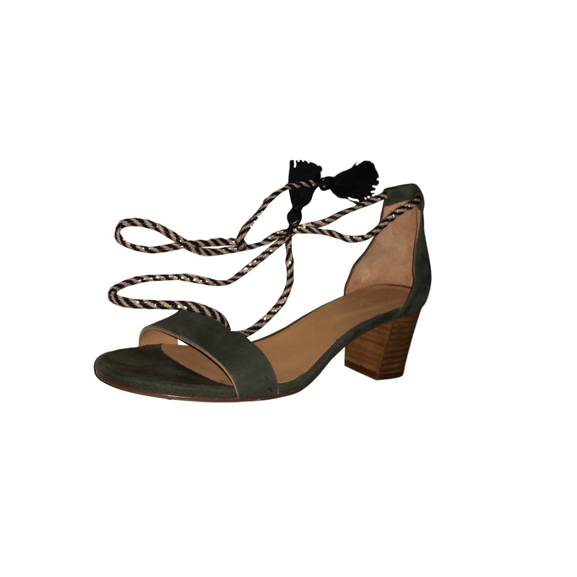 Sandales à talons SÉZANE 42 kaki vendu par Ombeline 81 7791799