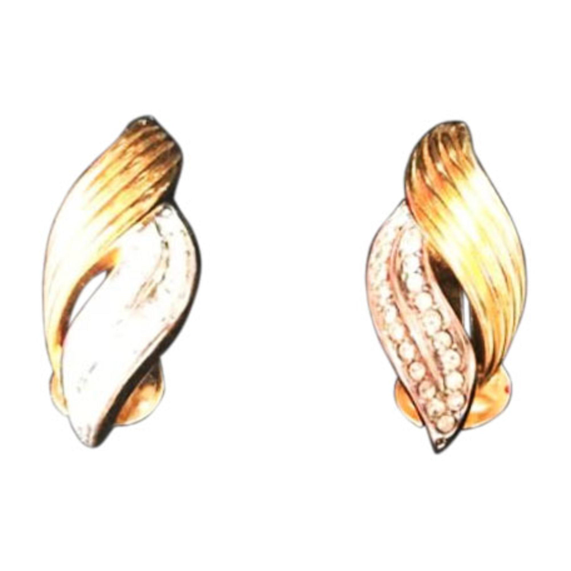 Boucles d'oreilles LANVIN plaqué or doré