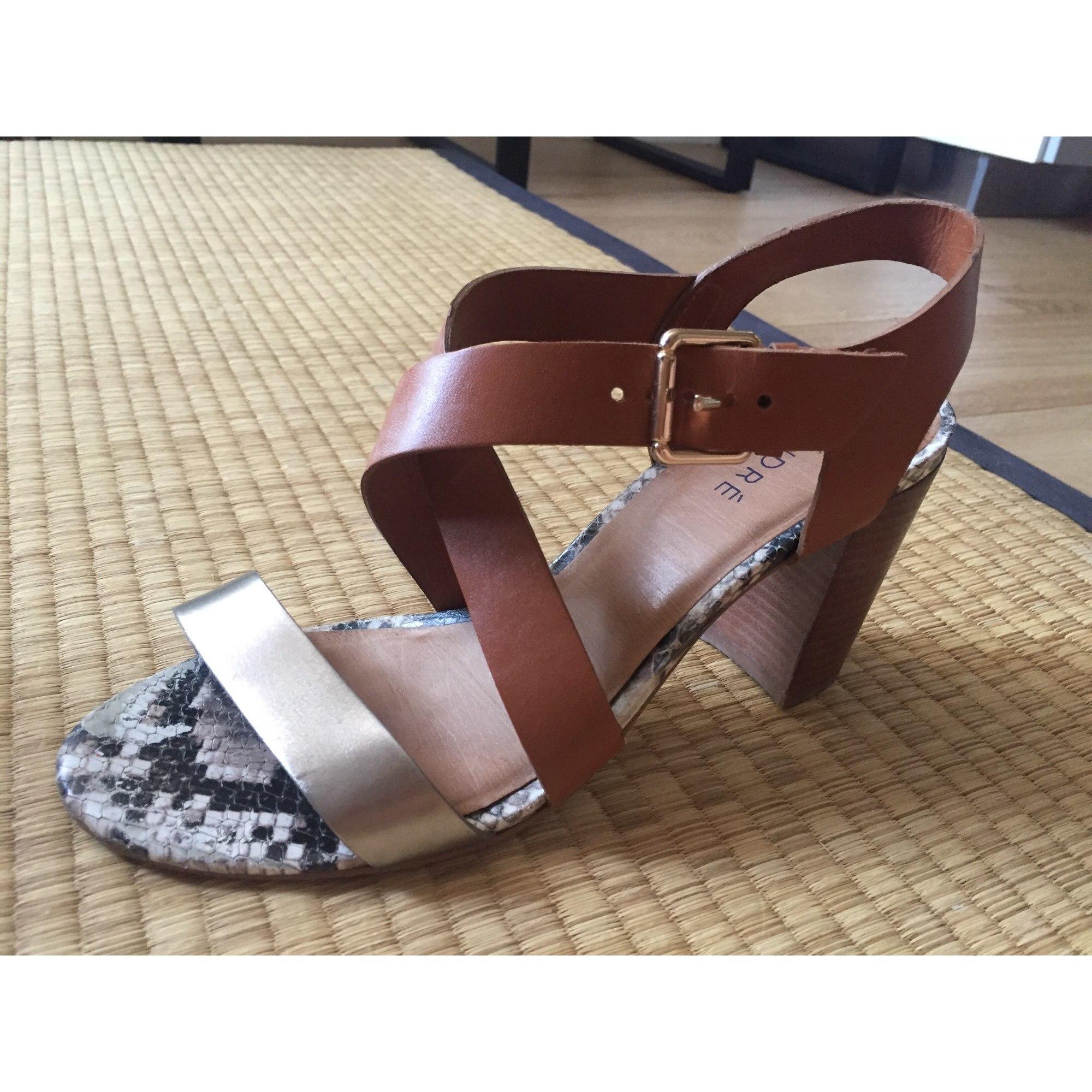 Sandales à talons ANDRÉ 38 marron 7899458