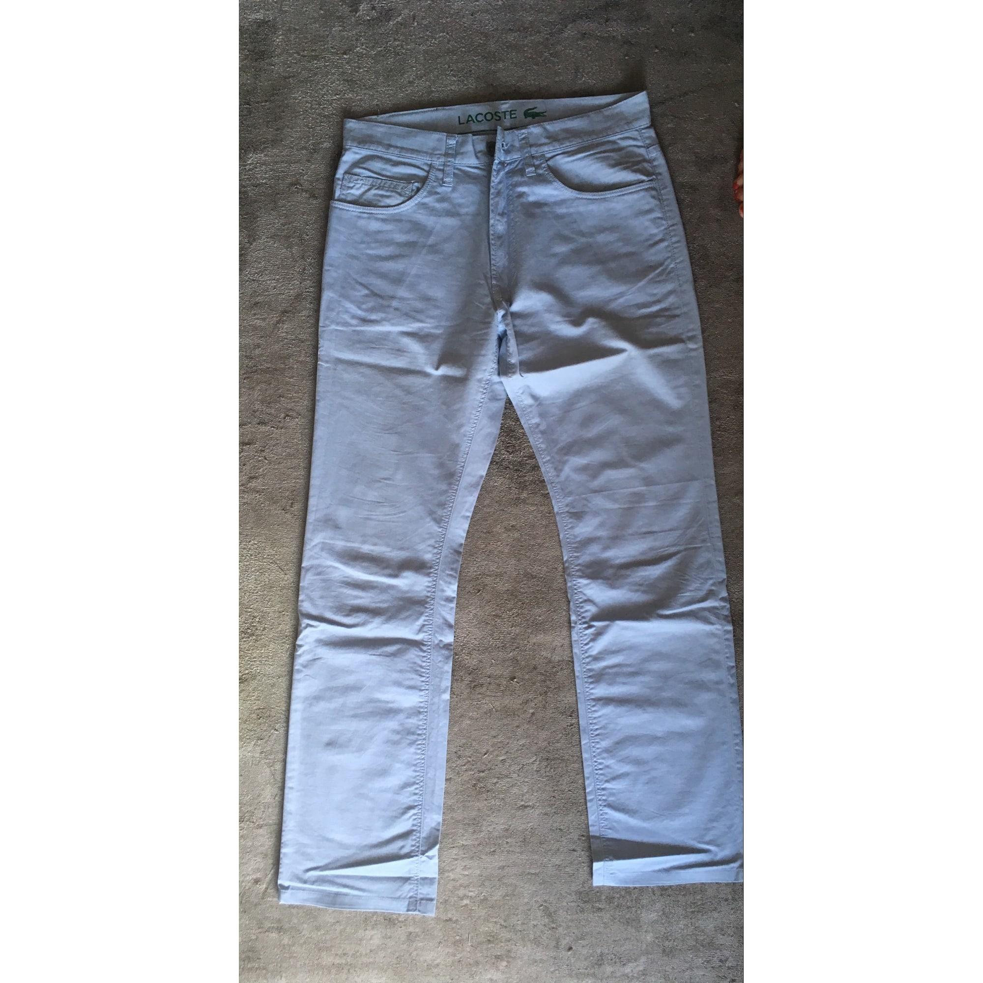 Pantalon droit LACOSTE Bleu, bleu marine, bleu turquoise