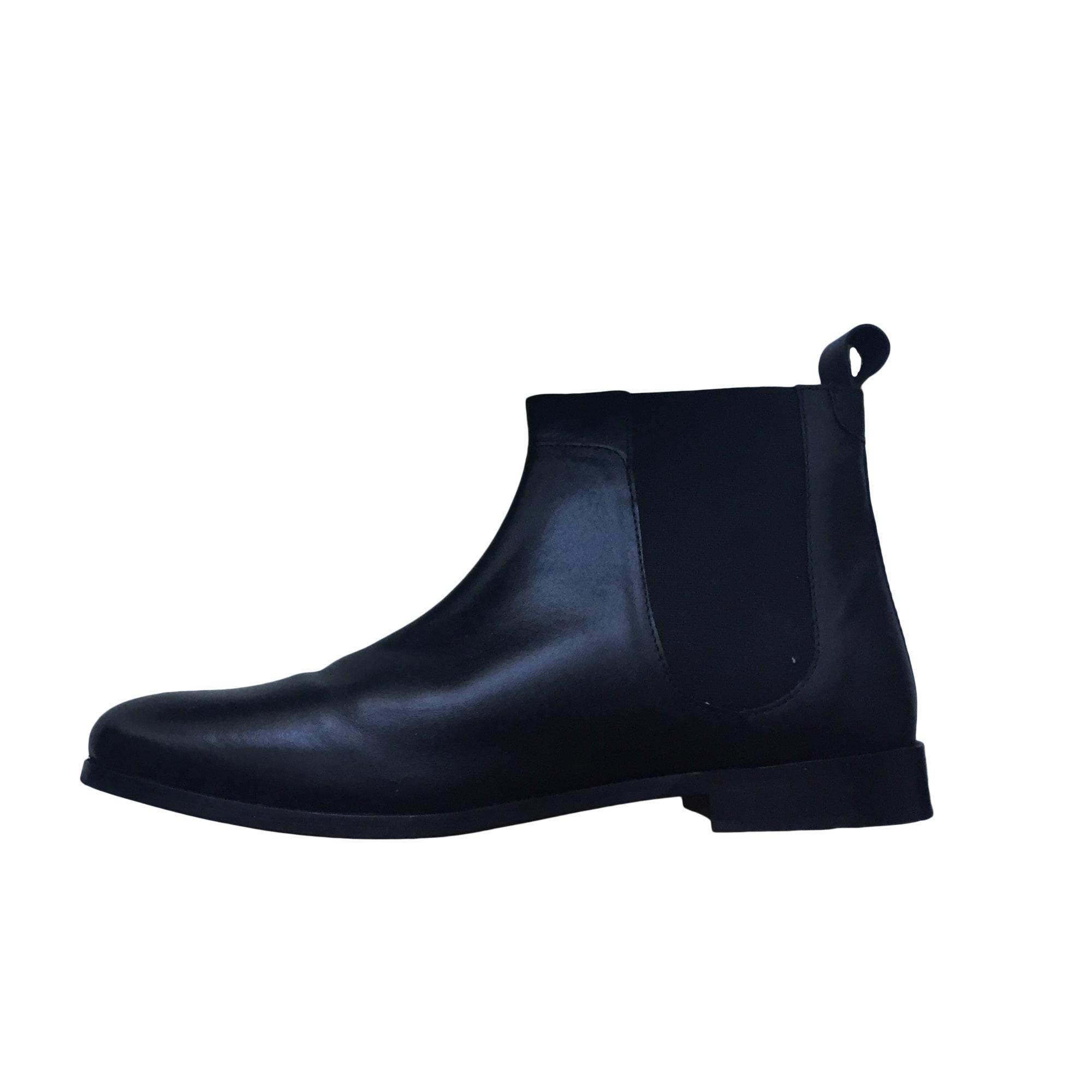 bottines à lacets noire manoukian