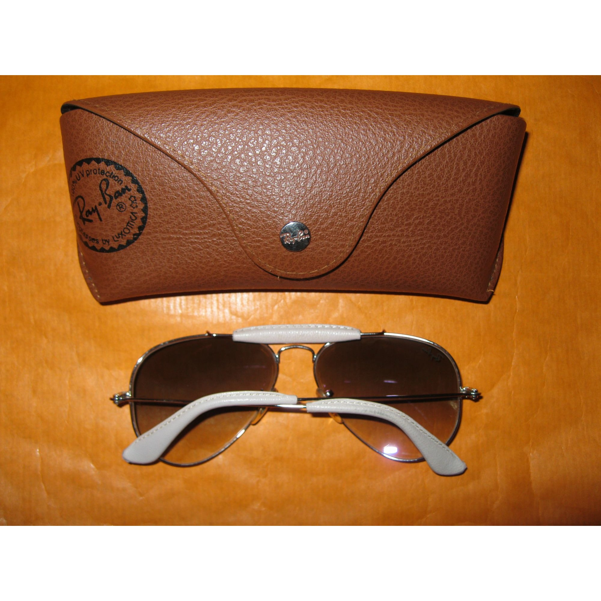 ray ban aviator femme marron degrade