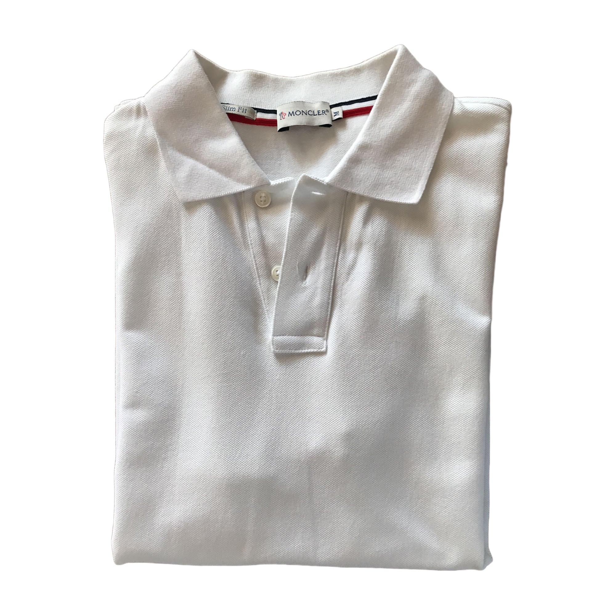 Polo MONCLER Blanc, blanc cassé, écru