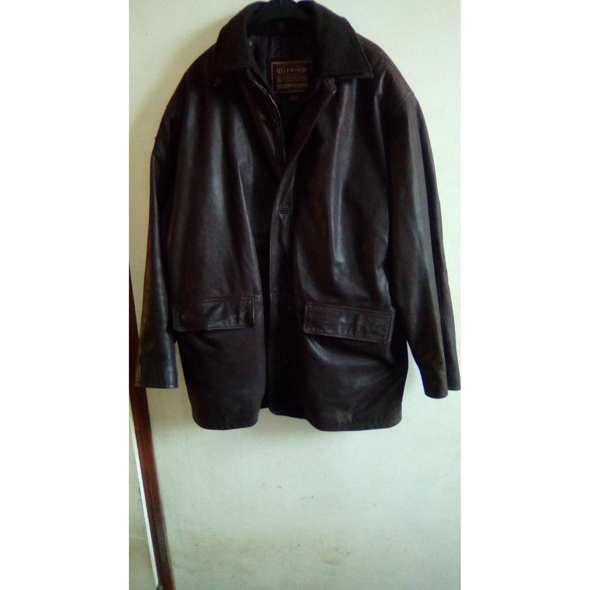 Manteau en cuir OAKWOOD Marron