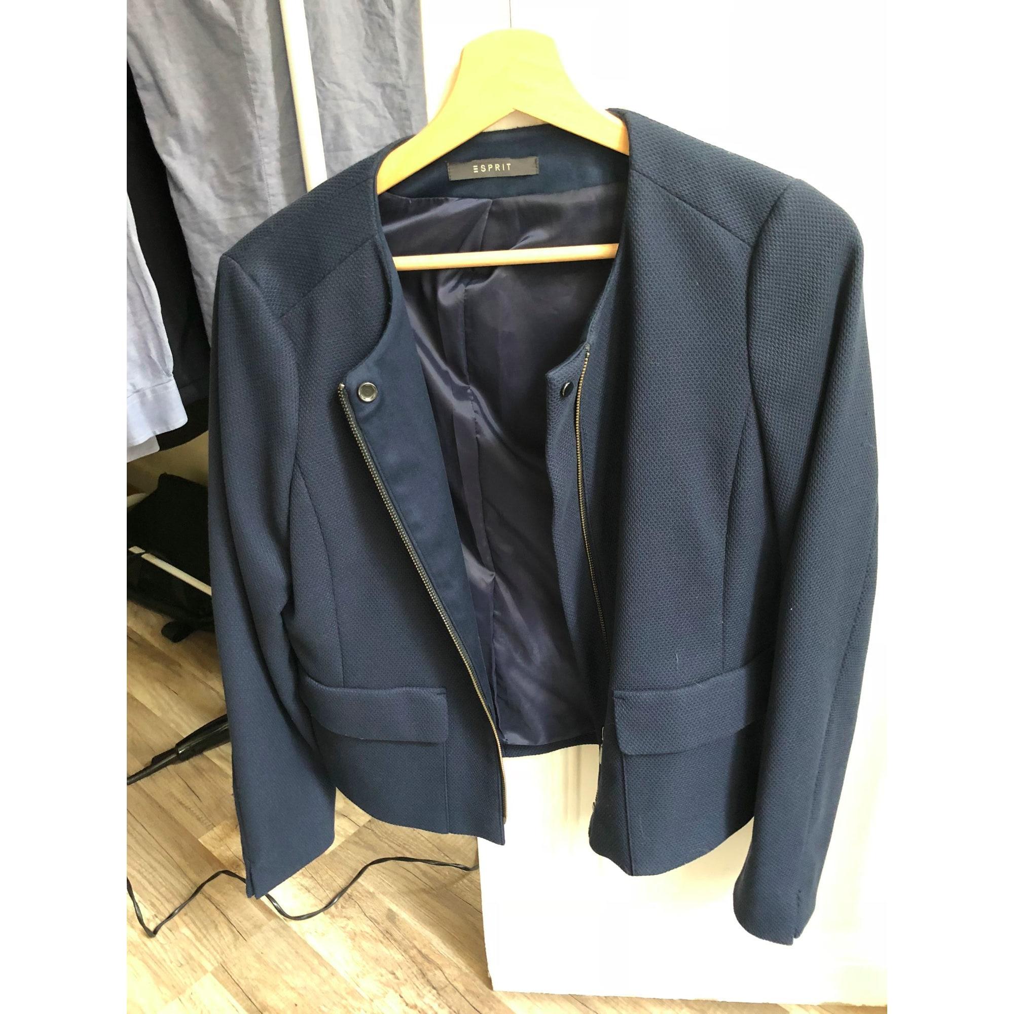 Veste femme Bleu Marine, esprit tailleur