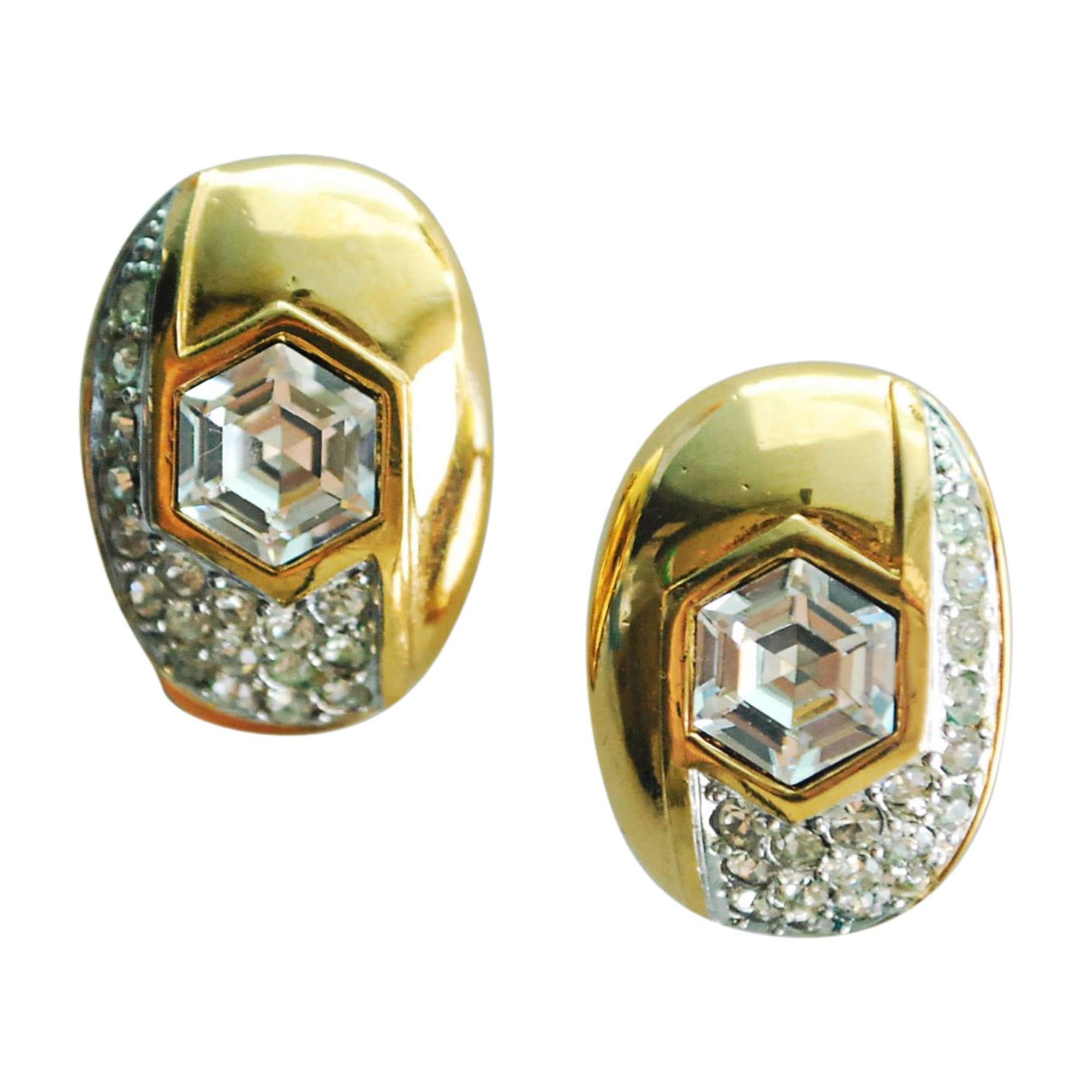 Boucles d'oreille LANVIN métal doré