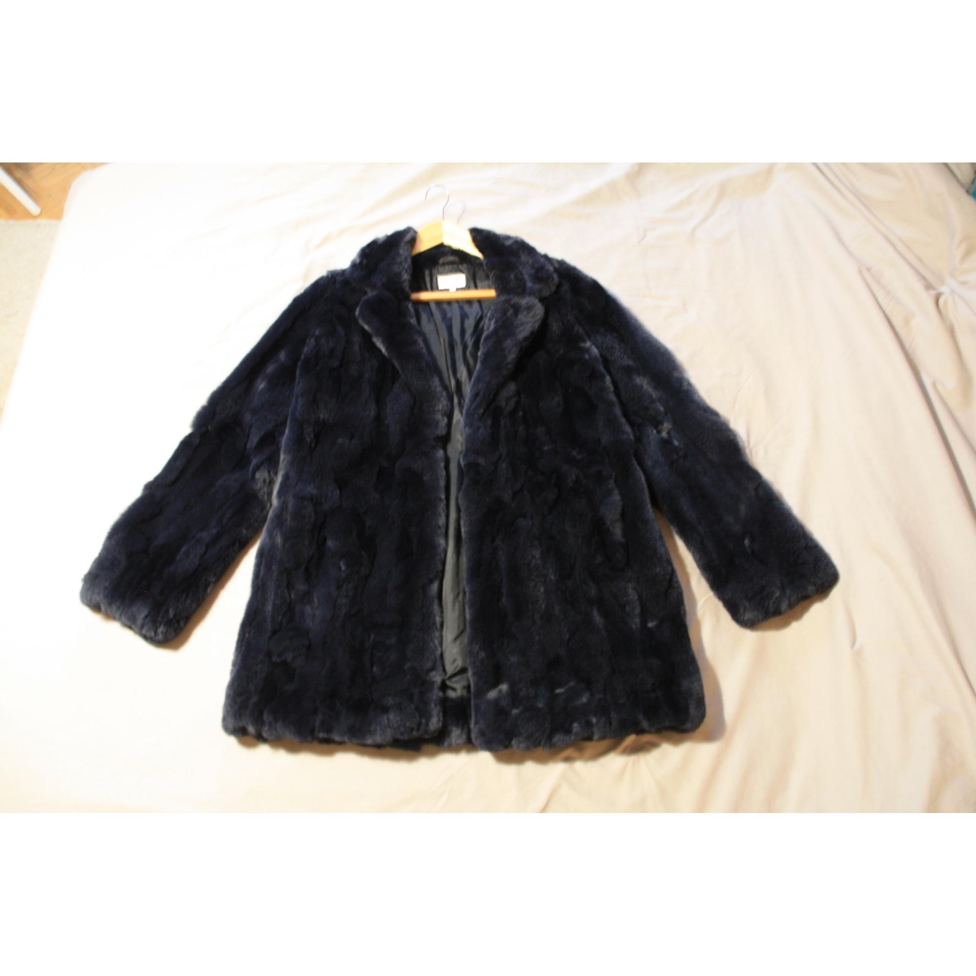 Manteau en fourrure HARTFORD 38 (M, T2) bleu 8392255