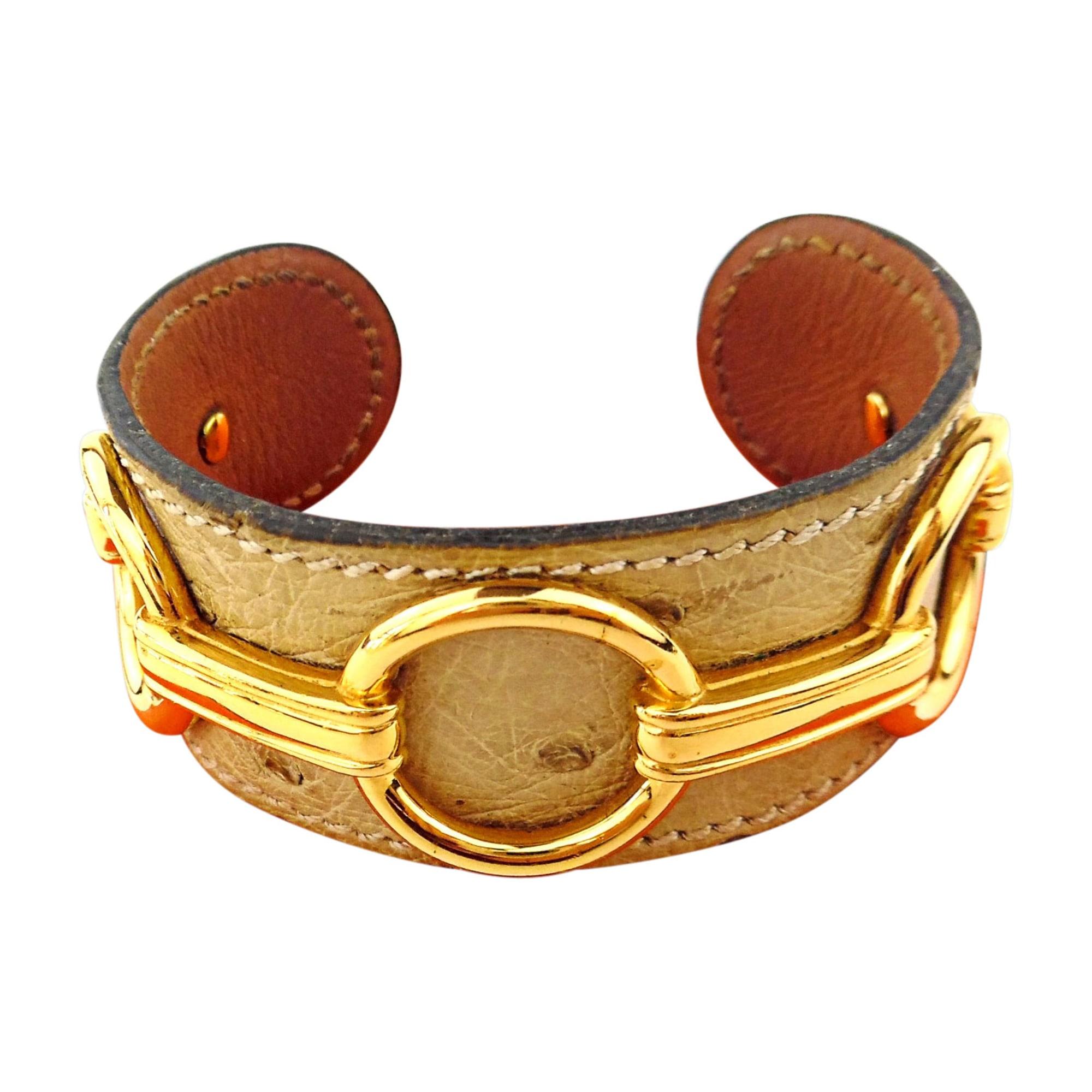 Bracelet HERMÈS Beige, camel