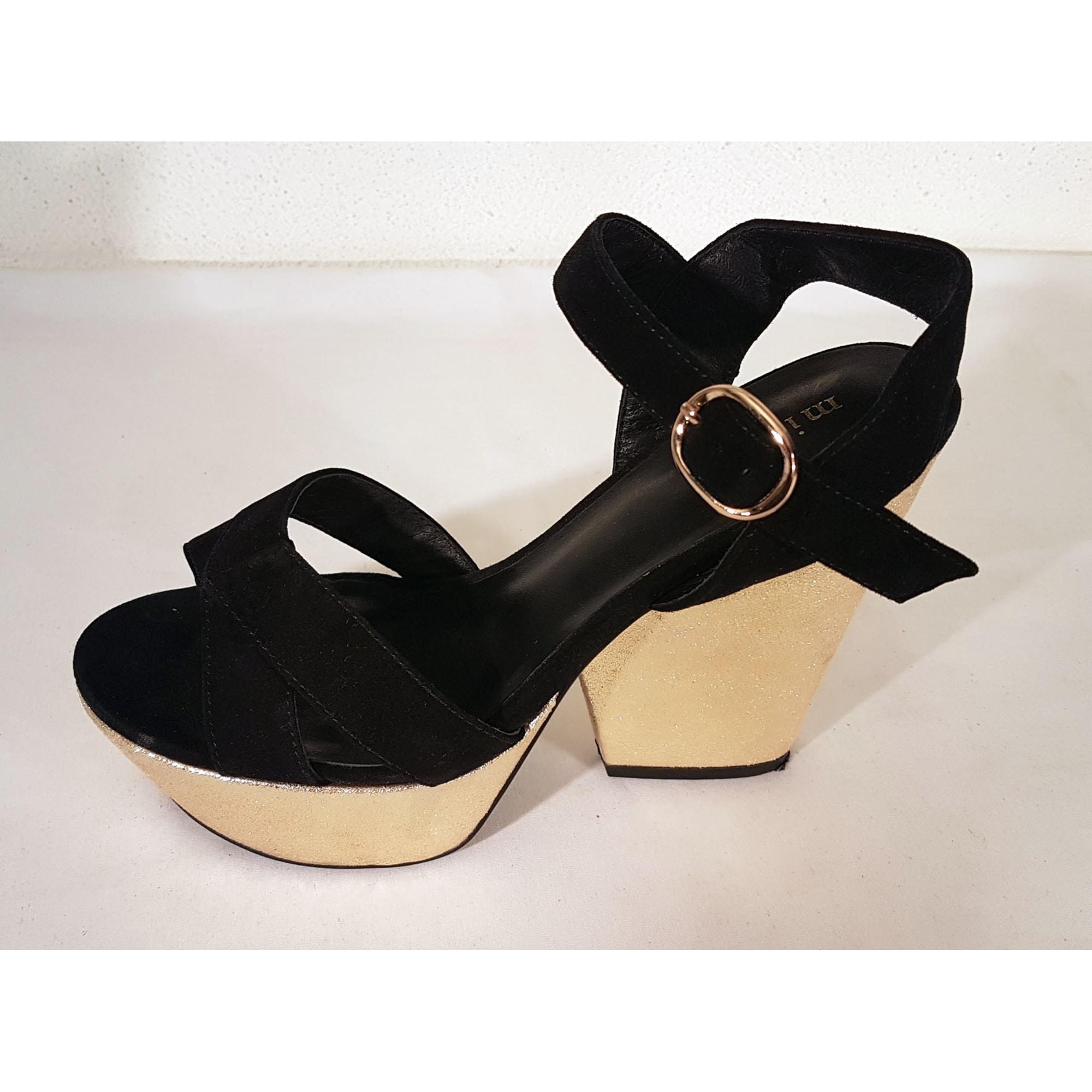 Sandales compensées MINELLI Noir