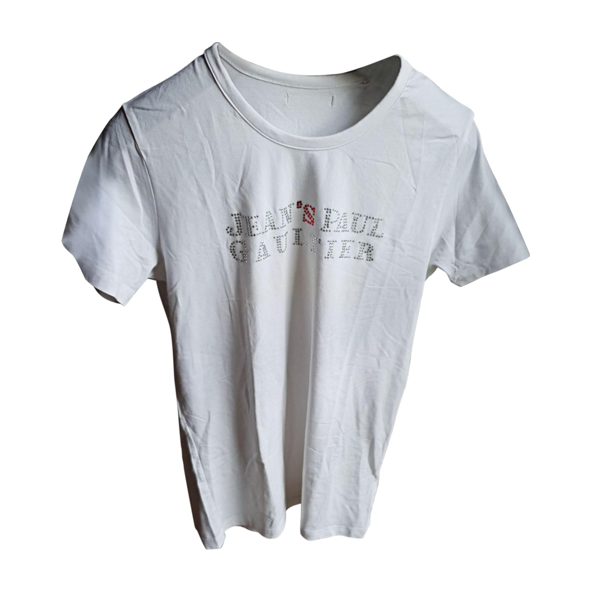 Tee-shirt JEAN PAUL GAULTIER Blanc, blanc cassé, écru