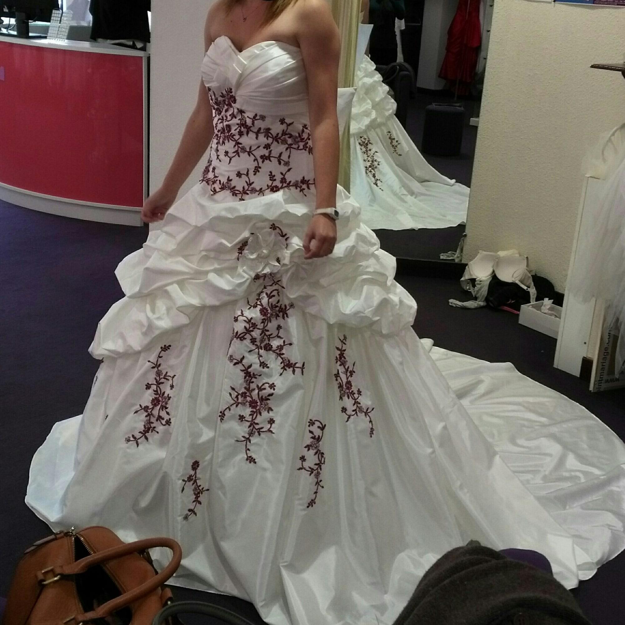 Robe de mariée POINT MARIAGE 38 (M, T2) blanc