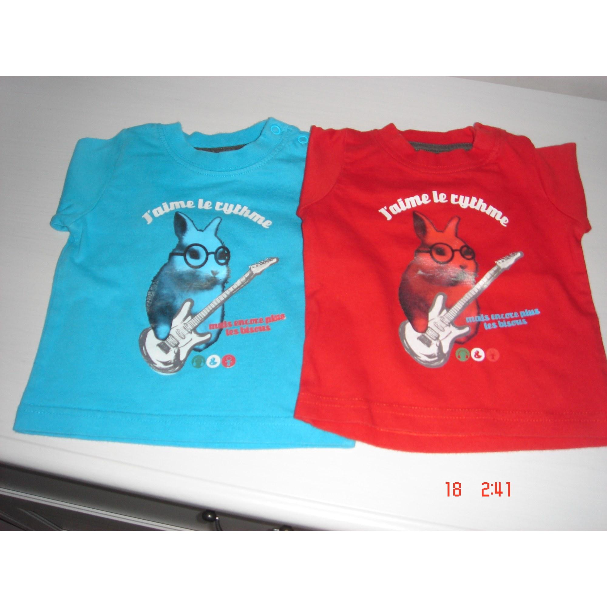 Top, tee shirt TOUT COMPTE FAIT Bleu, bleu marine, bleu turquoise