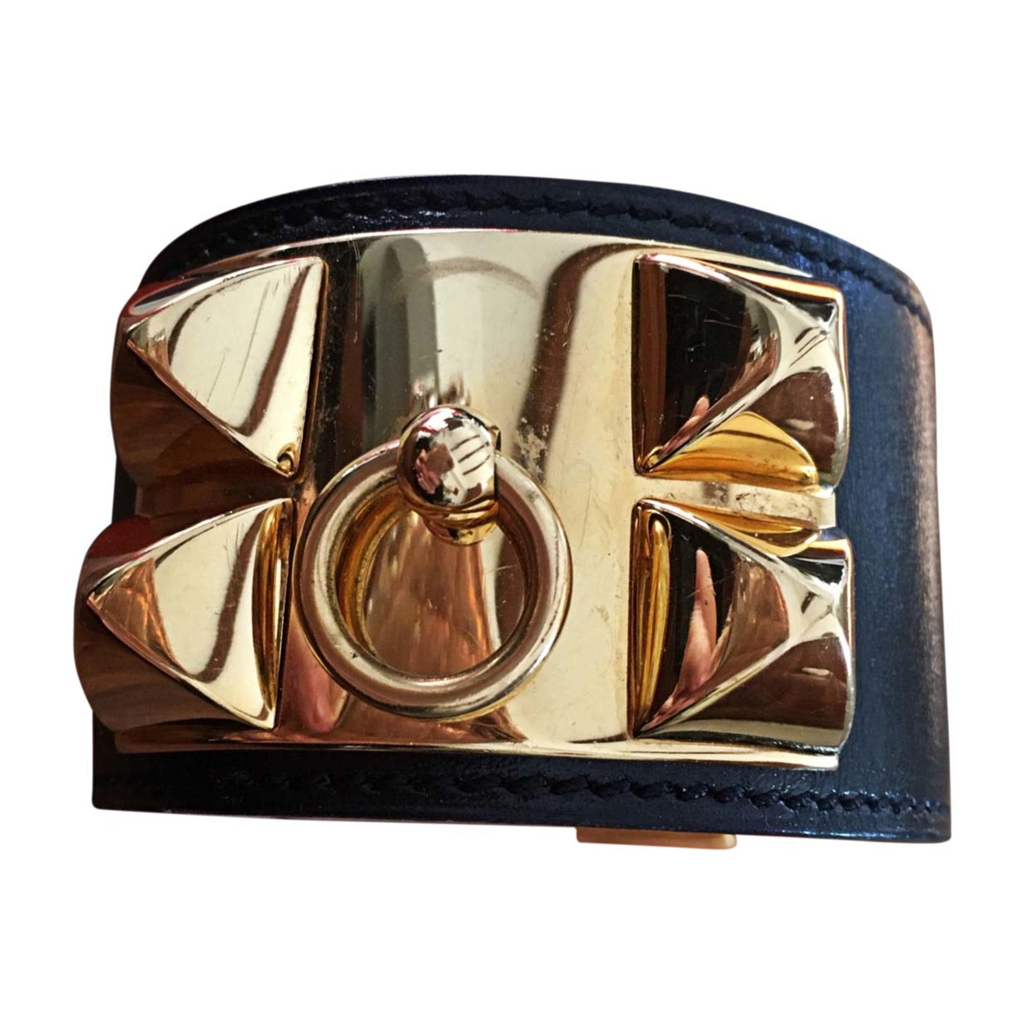 Bracelet HERMÈS acier Collier de Chien noir