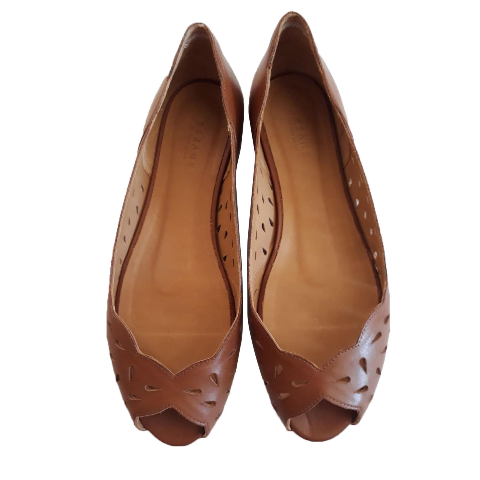 Flat Sandals SÉZANE Beige, camel