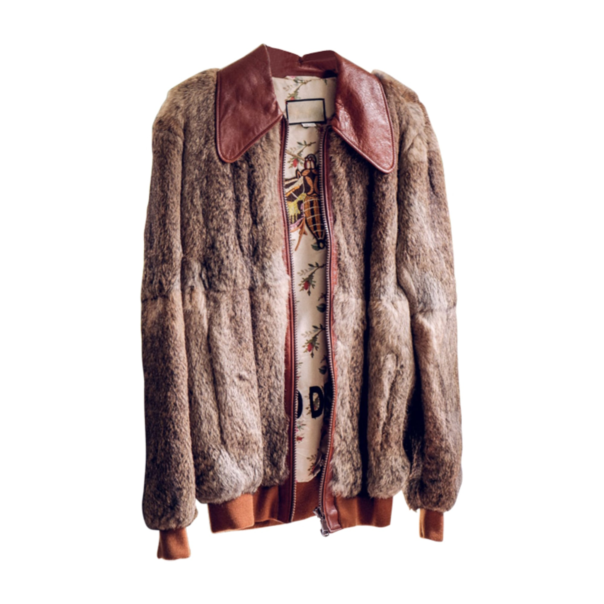 Fur Jackets GUCCI Brown