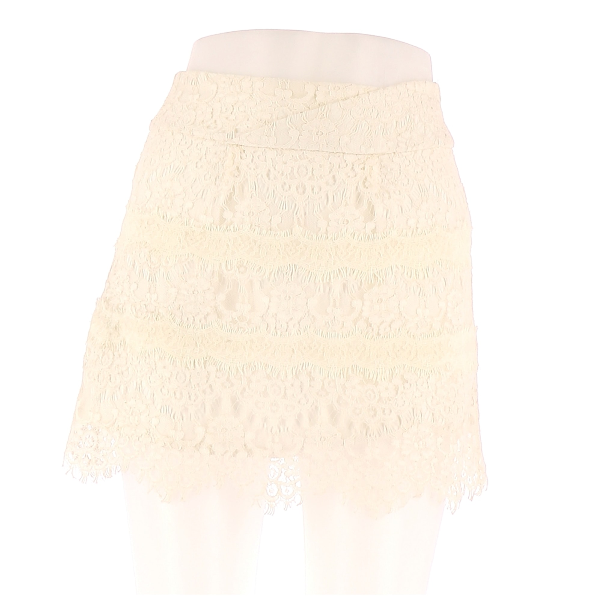 Jupe mi-longue THE KOOPLES Blanc, blanc cassé, écru