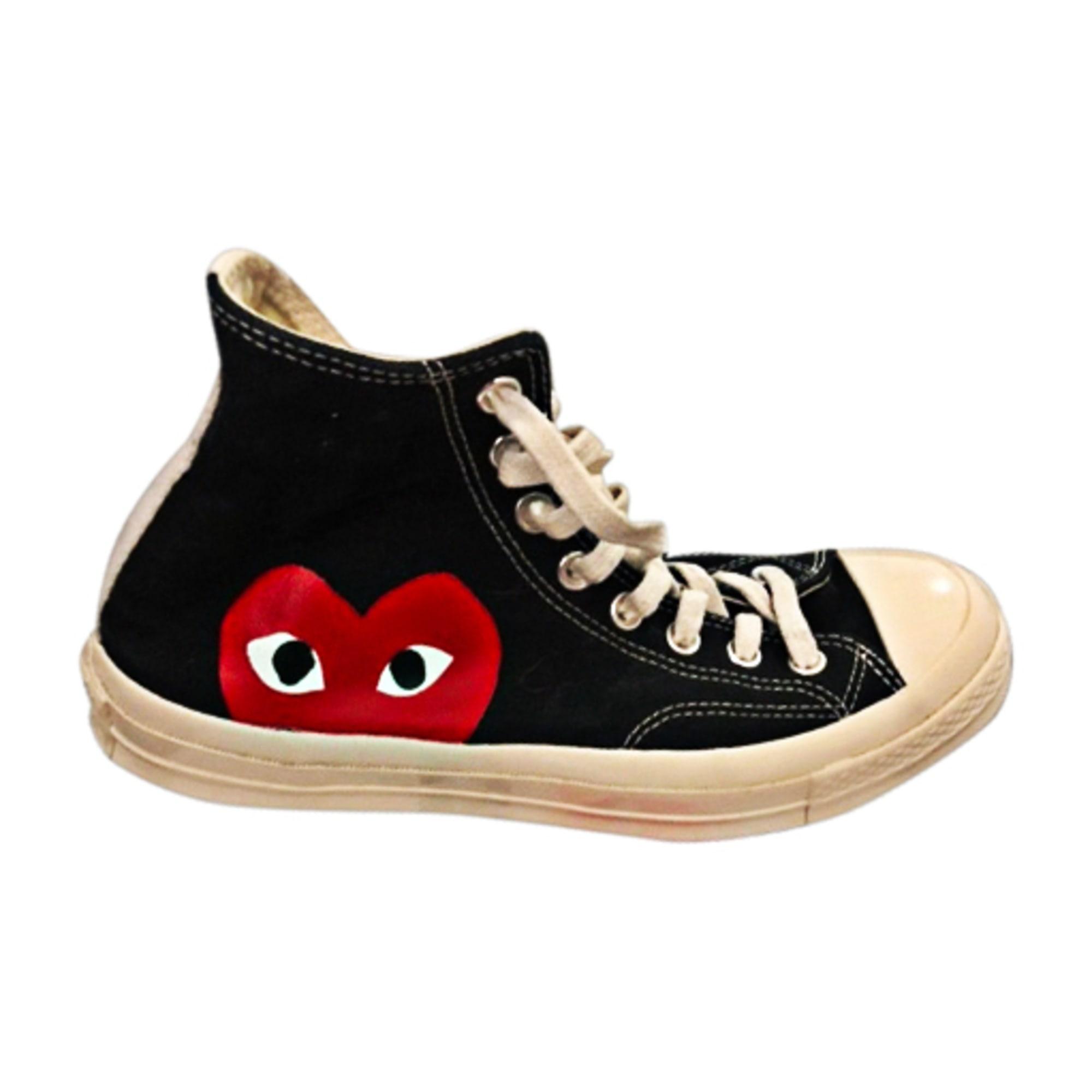 Lace Up Shoes COMME DES GARCONS Blanc noir rouge