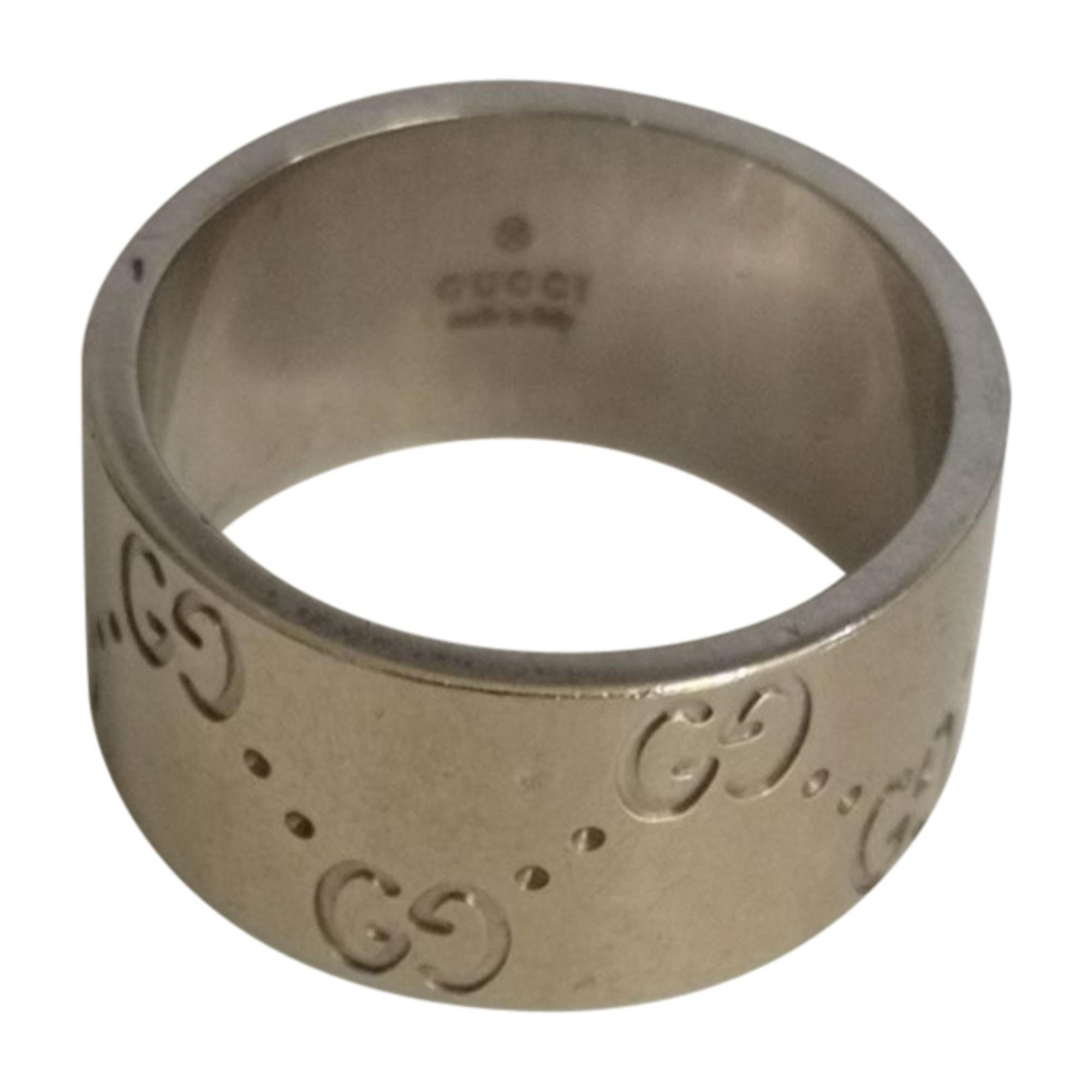 Ring GUCCI Silberfarben, stahlfarben