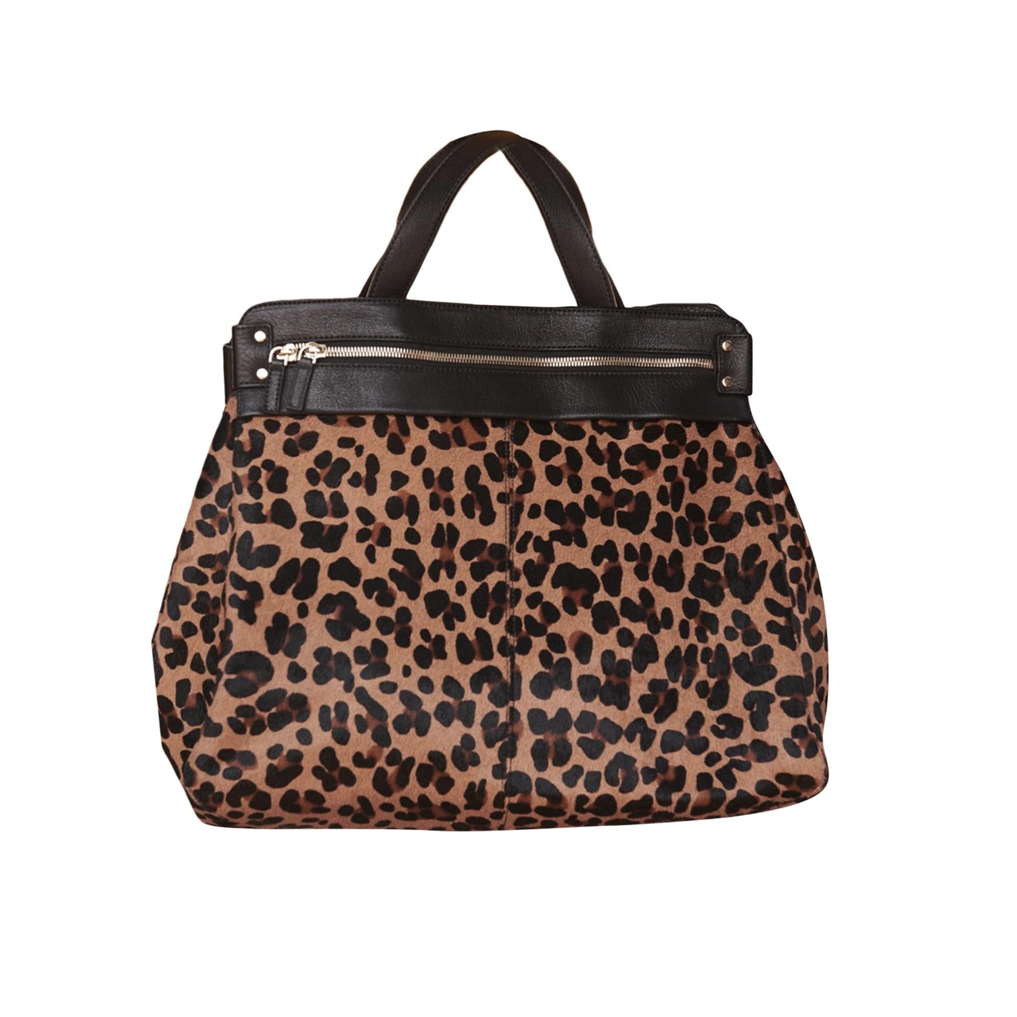 Leather Handbag SÉZANE Animal prints