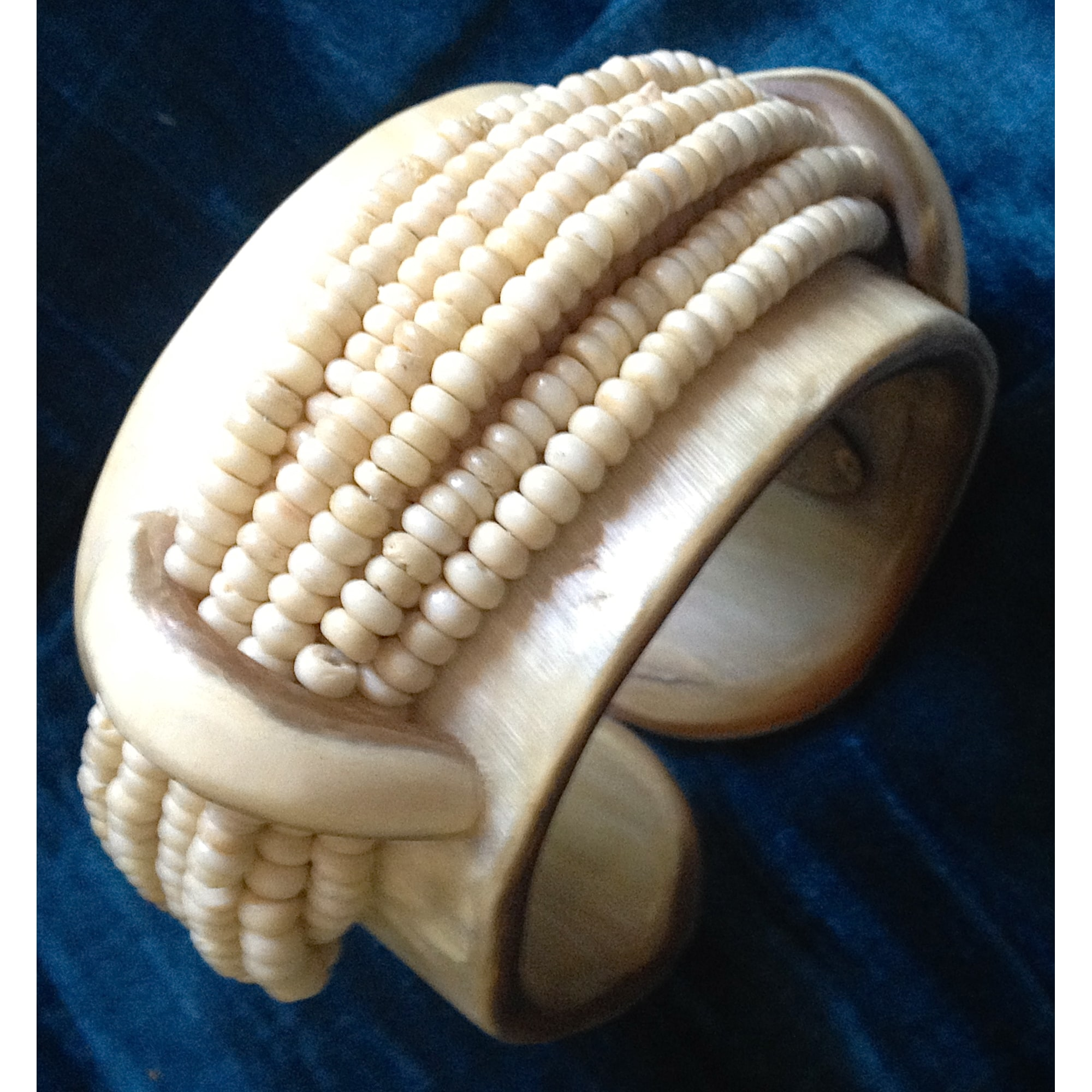 Bracelet MONIES corne bovine beige