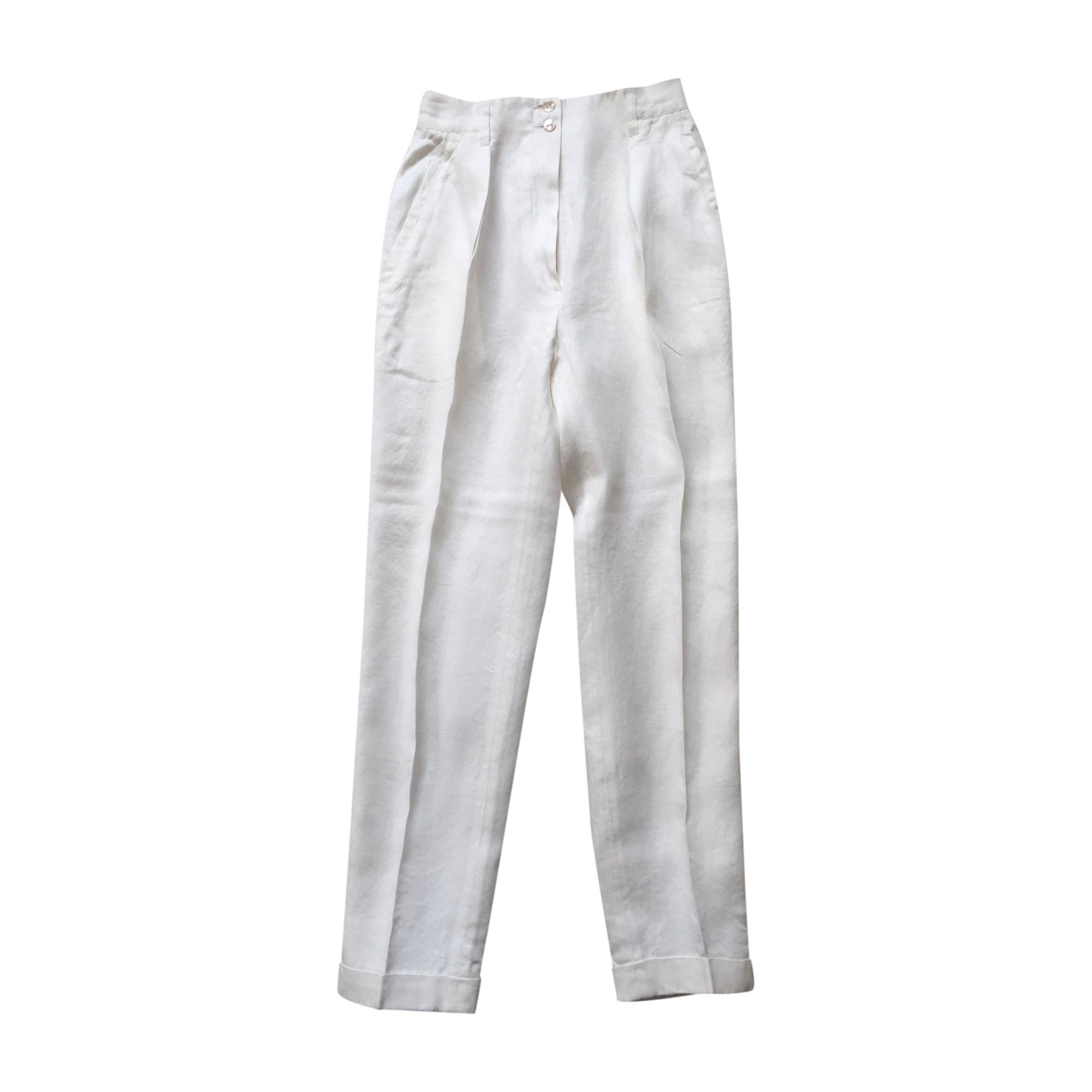 Tailleur pantalon KENZO Blanc, blanc cassé, écru