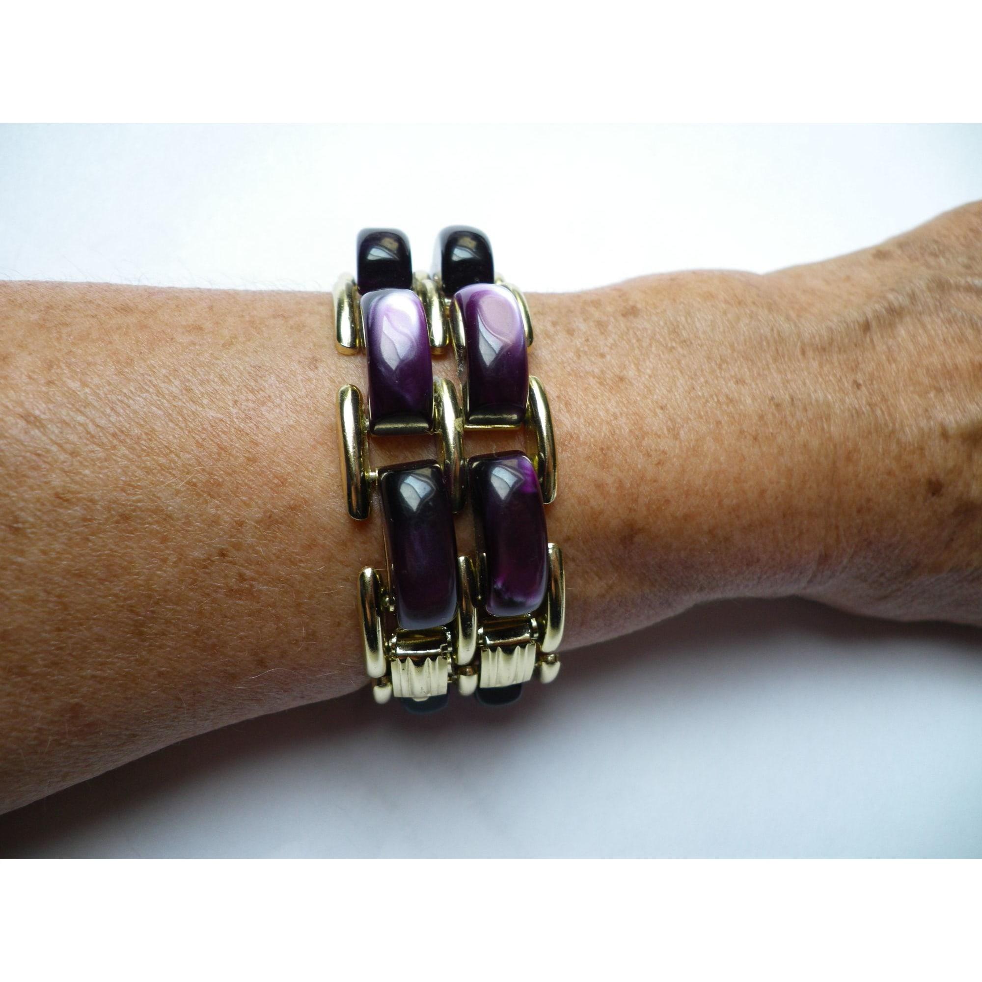 Bracelet DOMINIQUE DENAIVE résine violet