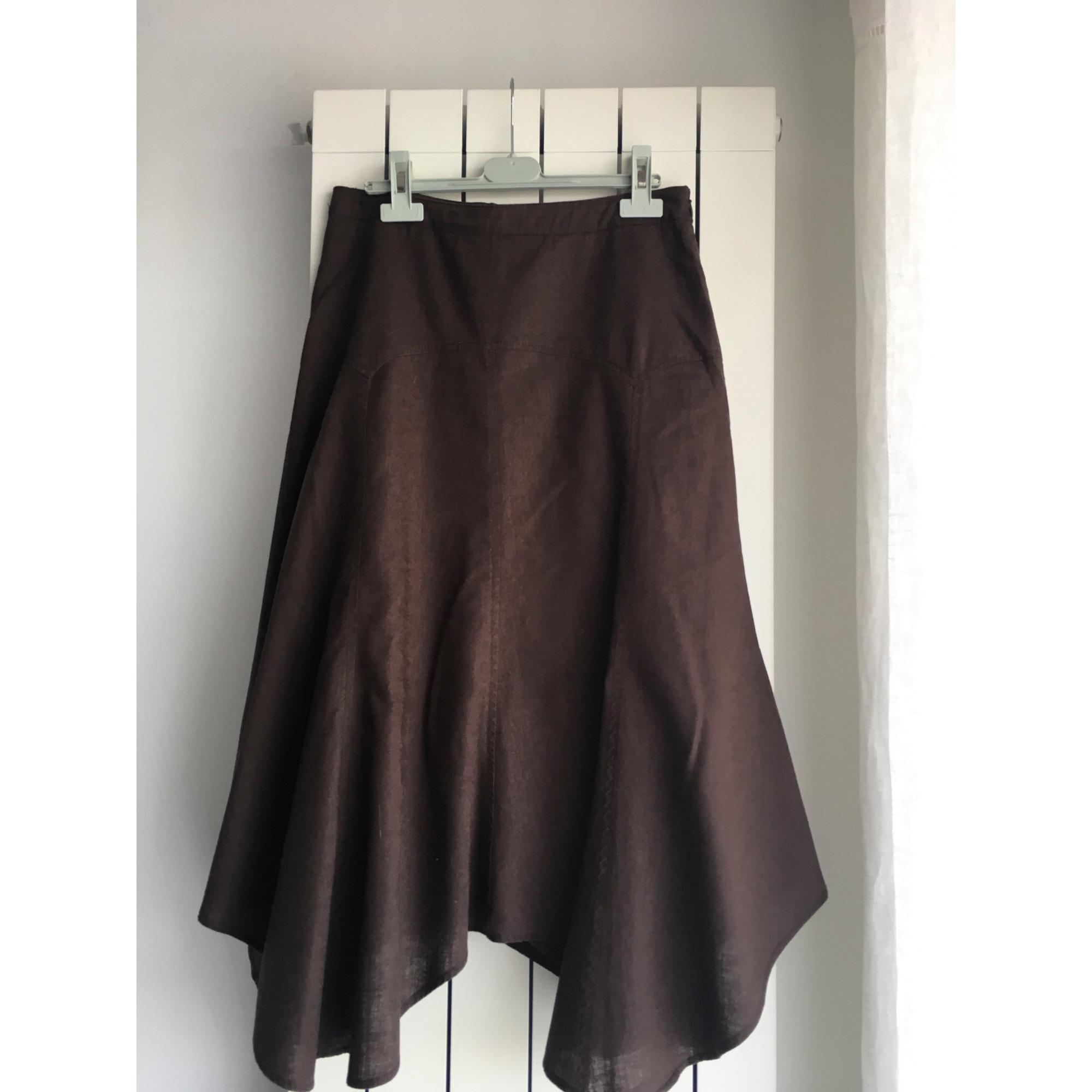 Midi Skirt ESPRIT Brown