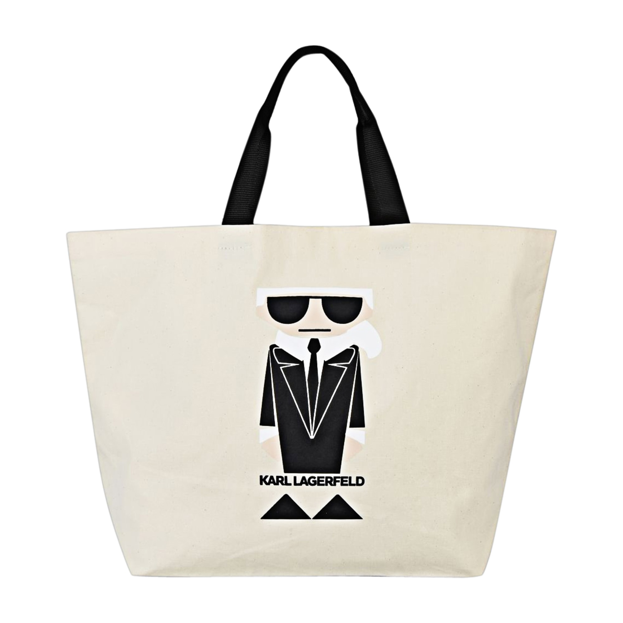 Non-Leather Oversize Bag KARL LAGERFELD White, off-white, ecru