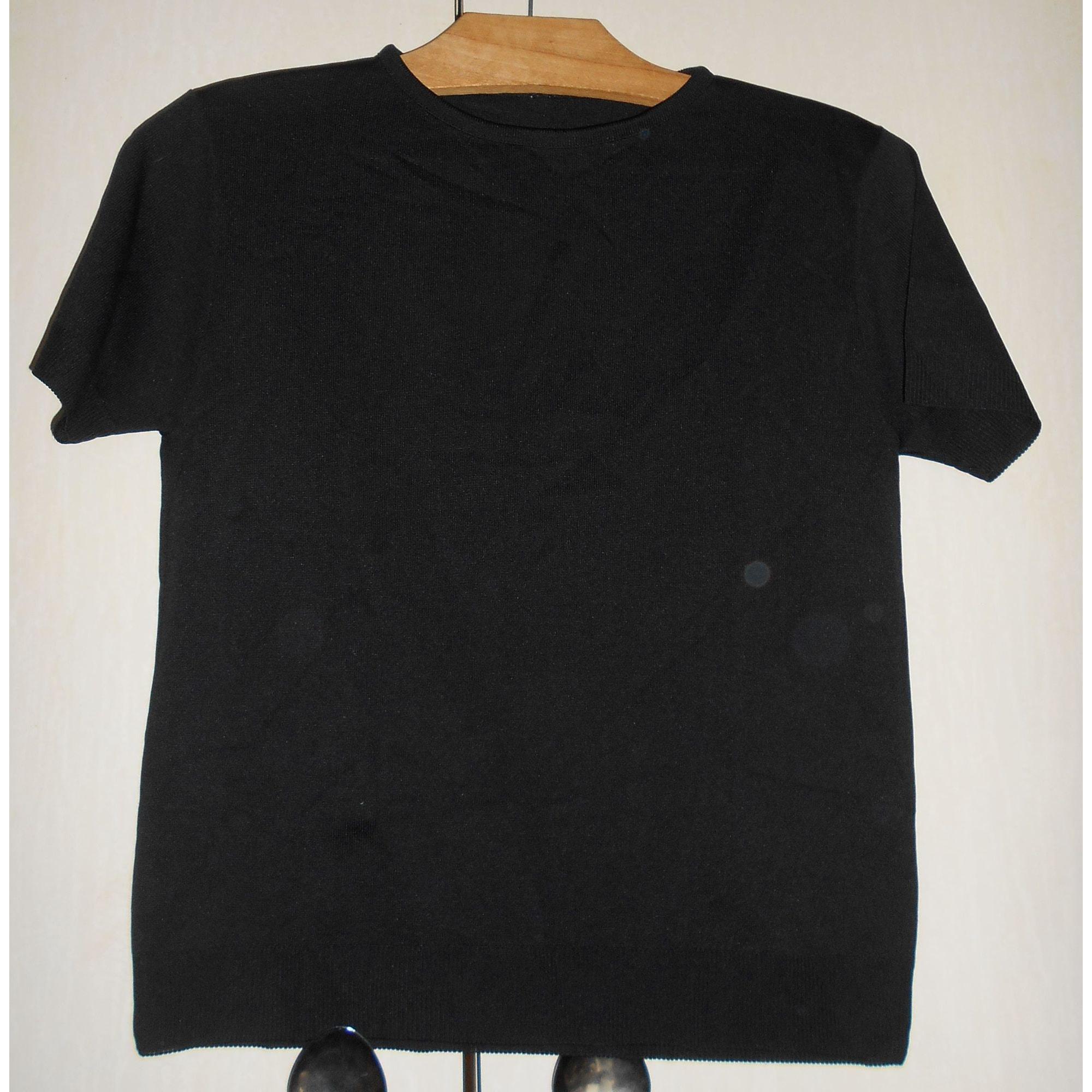 Top, tee-shirt VINTAGE Noir