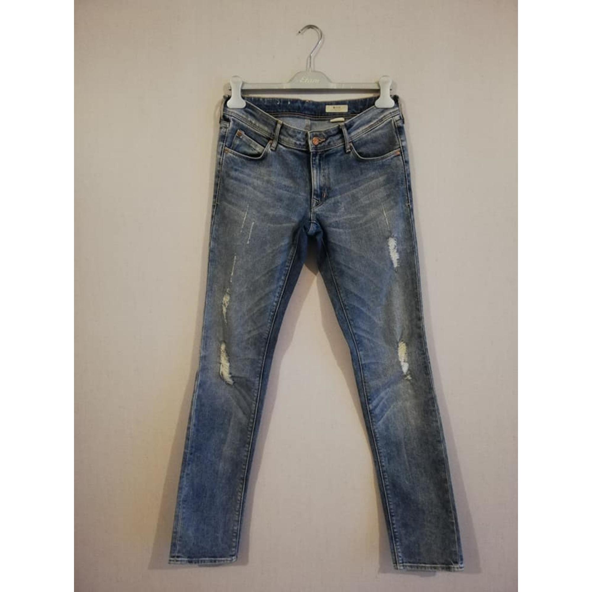 Jeans droit H&M Bleu, bleu marine, bleu turquoise