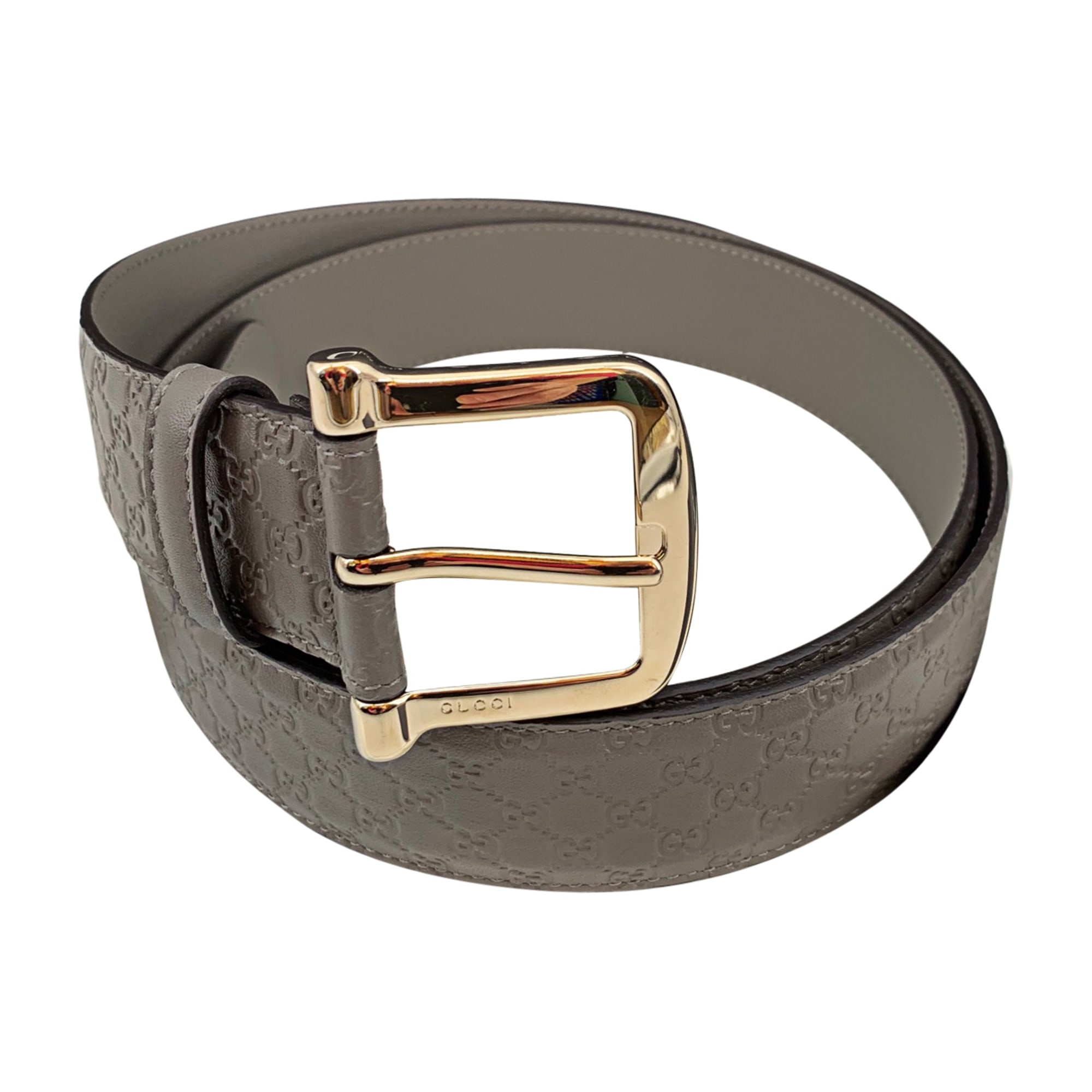 Wide Belt GUCCI Gray, charcoal