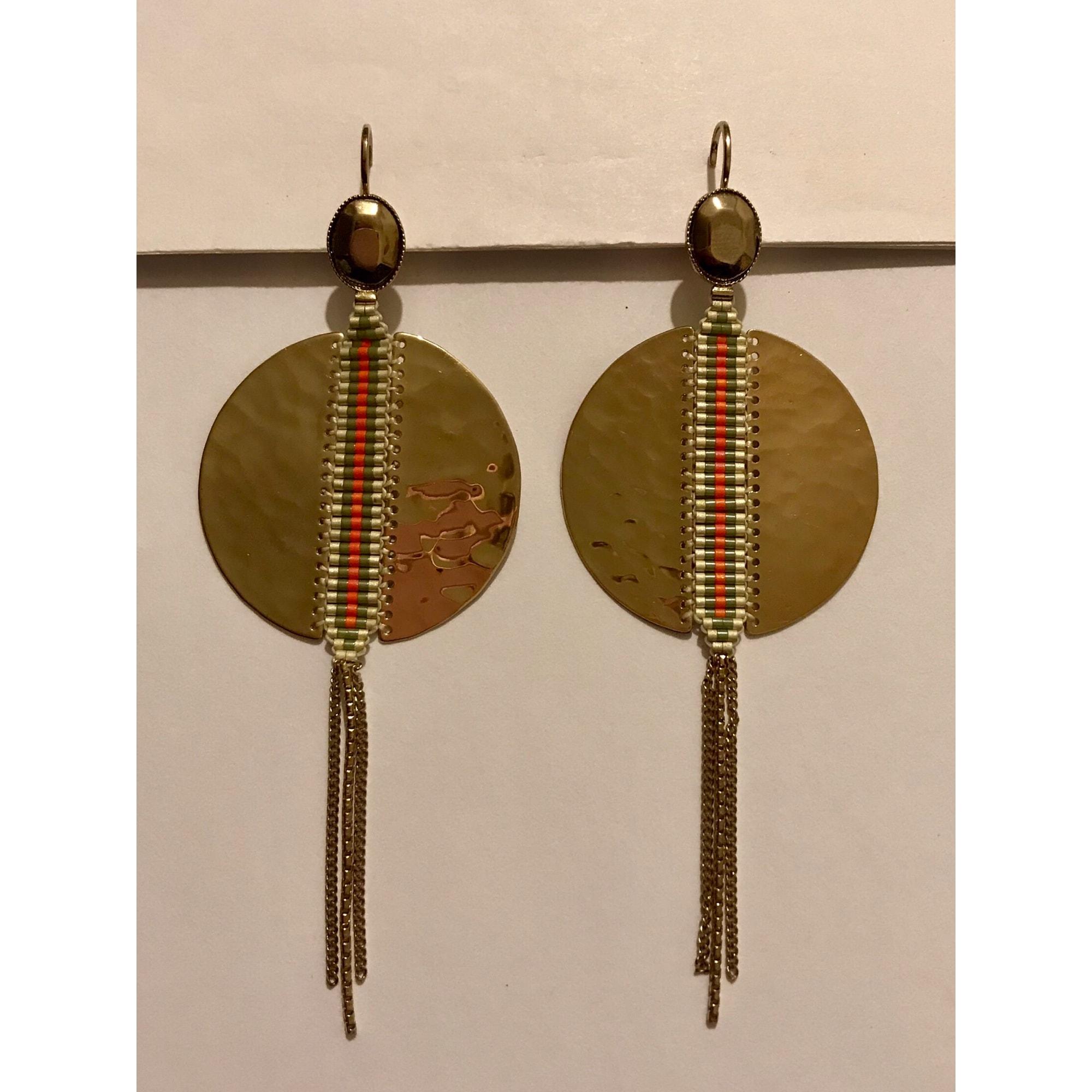 Boucles d'oreille SATELLITE métal doré