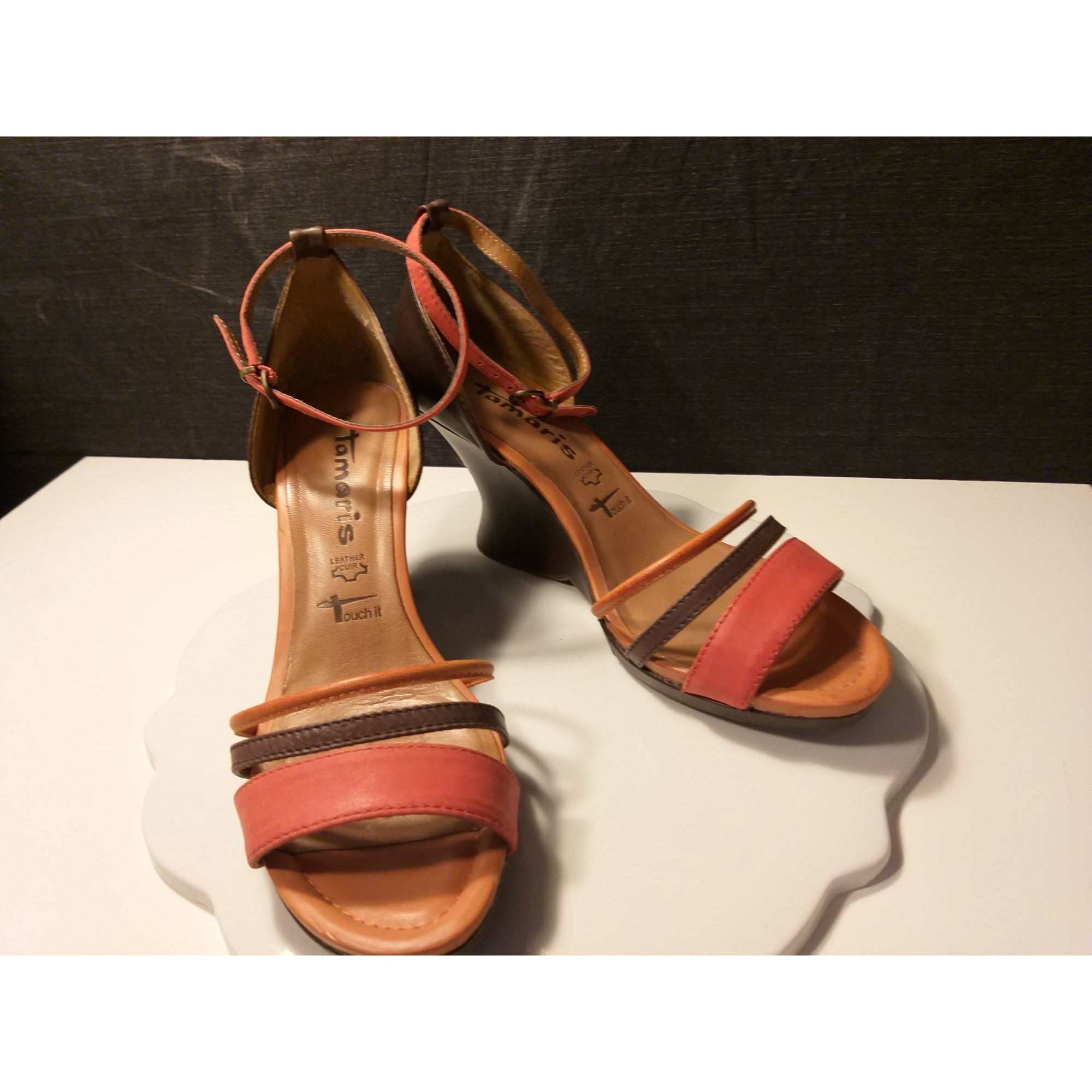 Sandales compensées TAMARIS Multicouleur